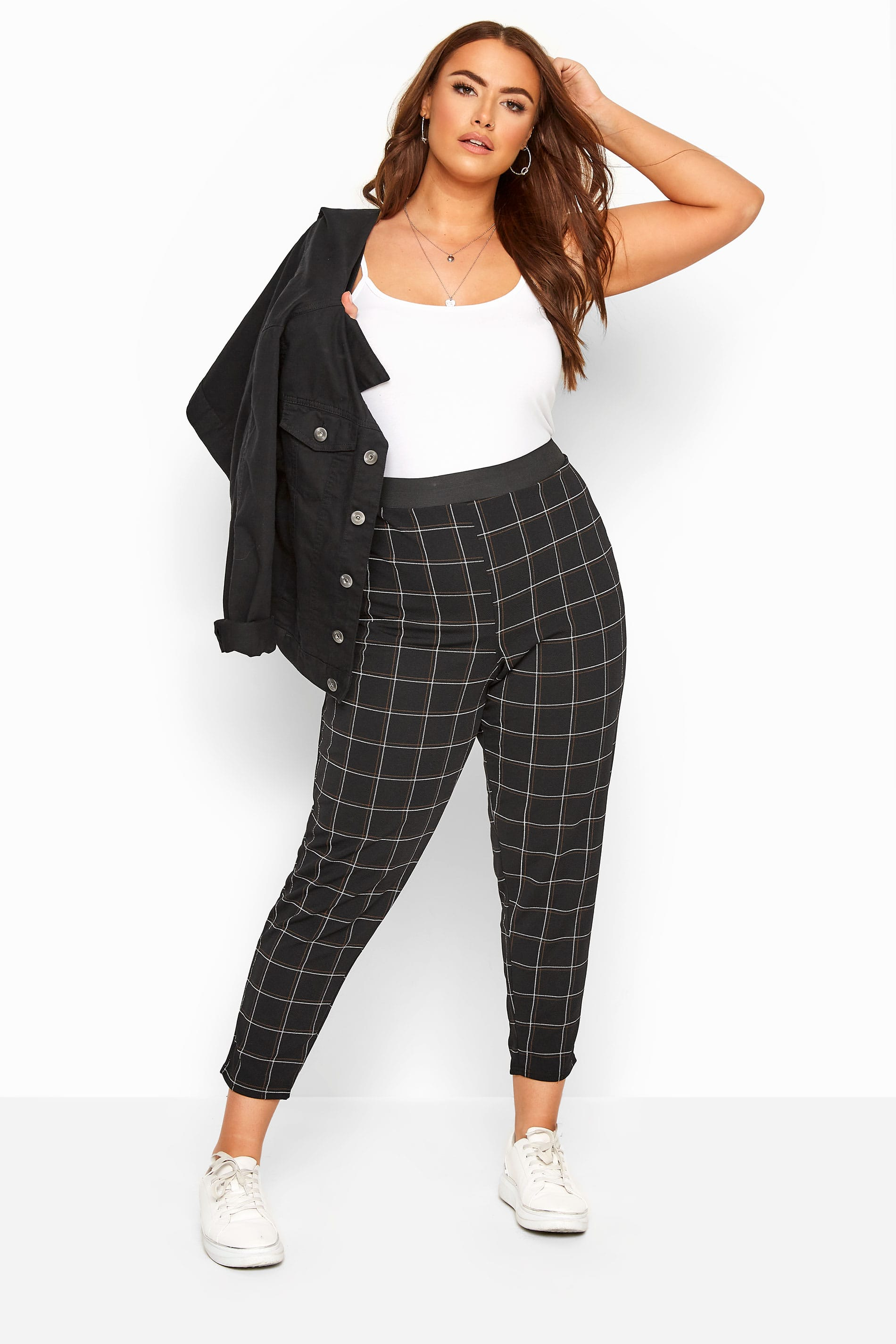 Black & Rust Check Trousers