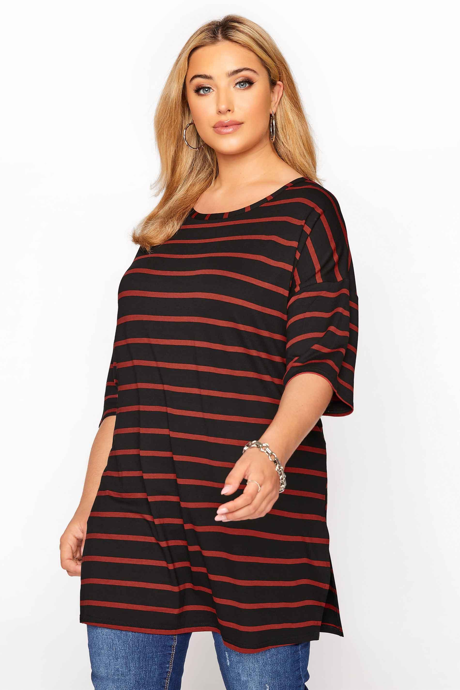 Black Rust Stripe Oversized T-Shirt_d0e8.jpg