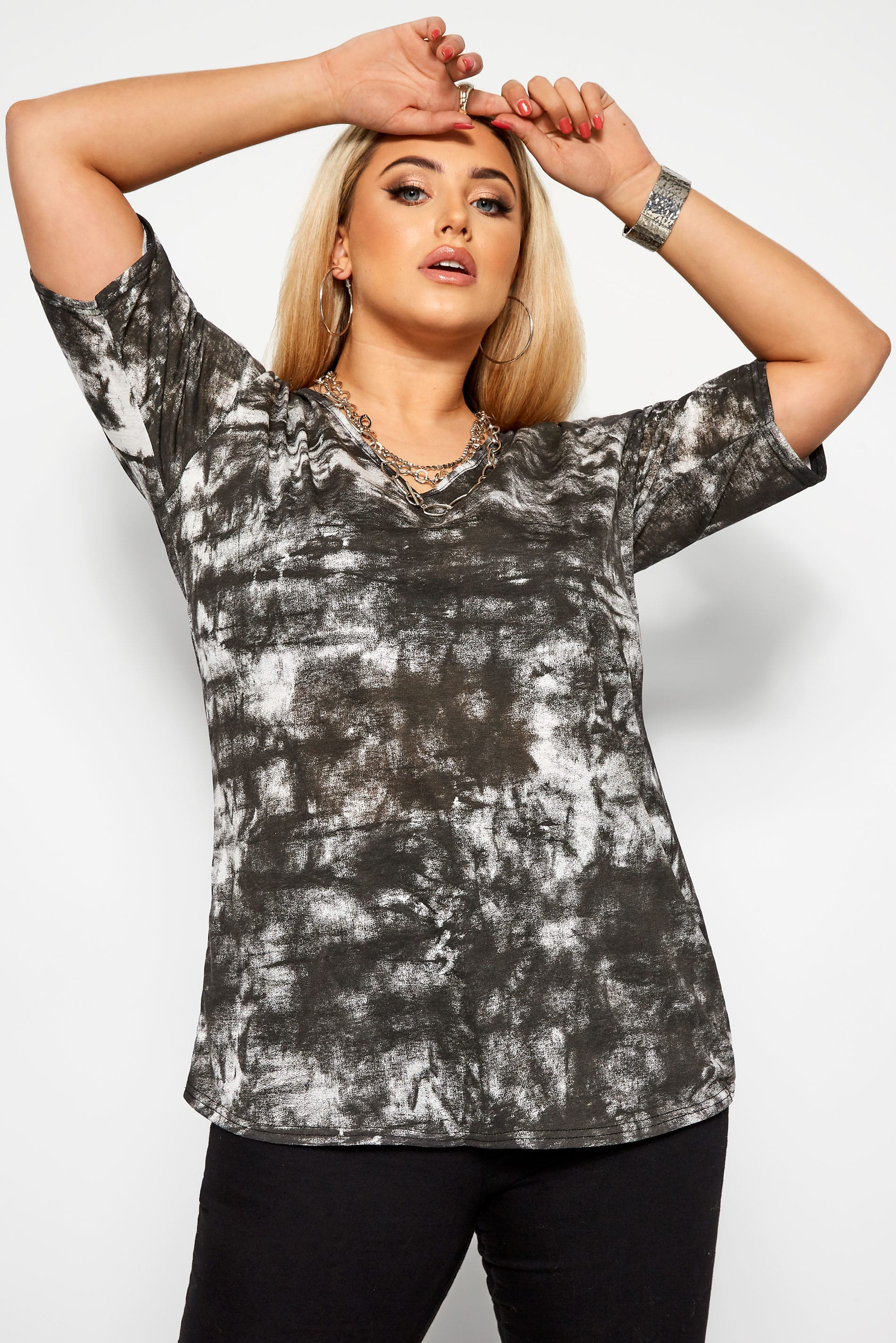 LIMITED COLLECTION Black Tie Dye Top