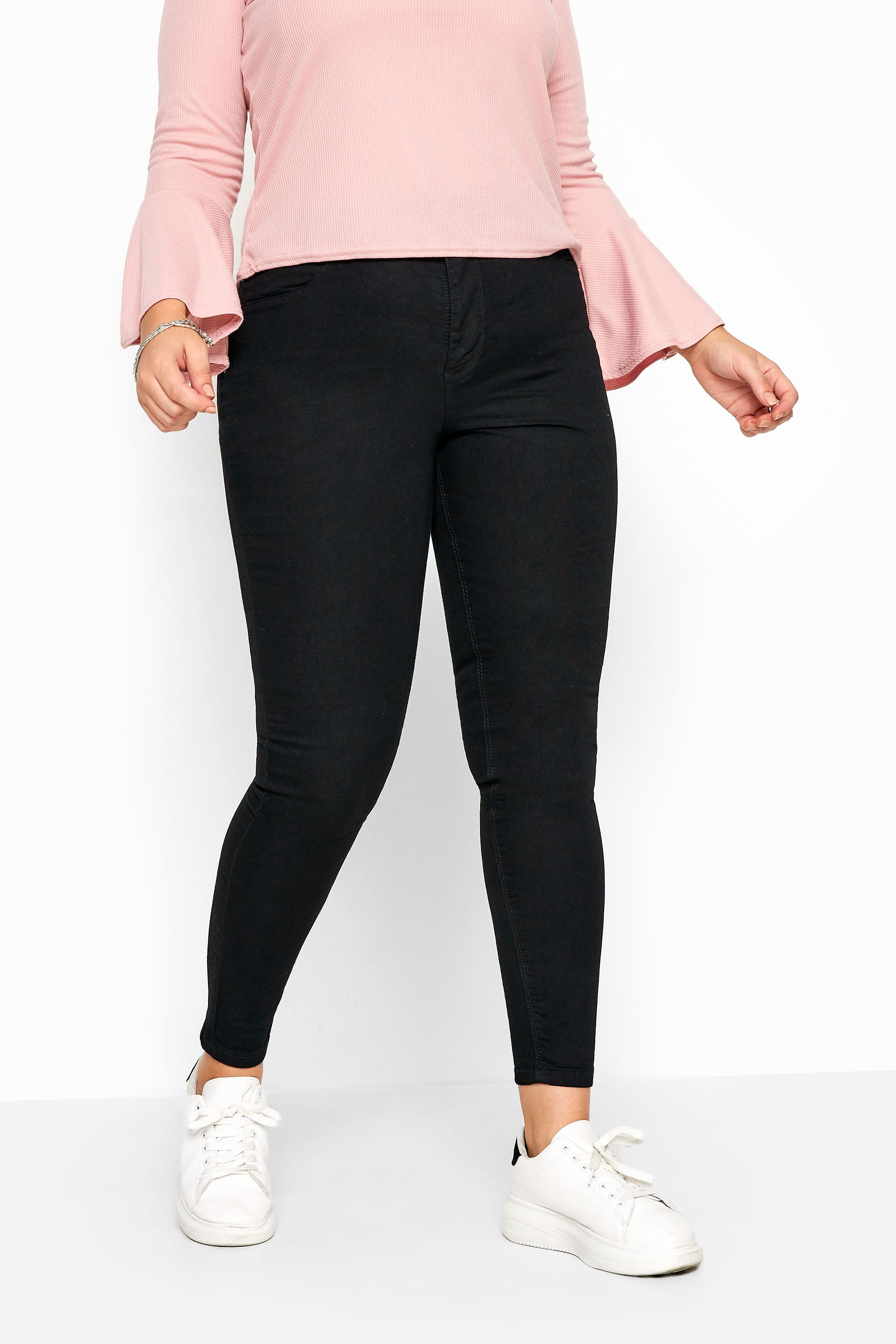 Black Super High Rise KIM Skinny Jeans