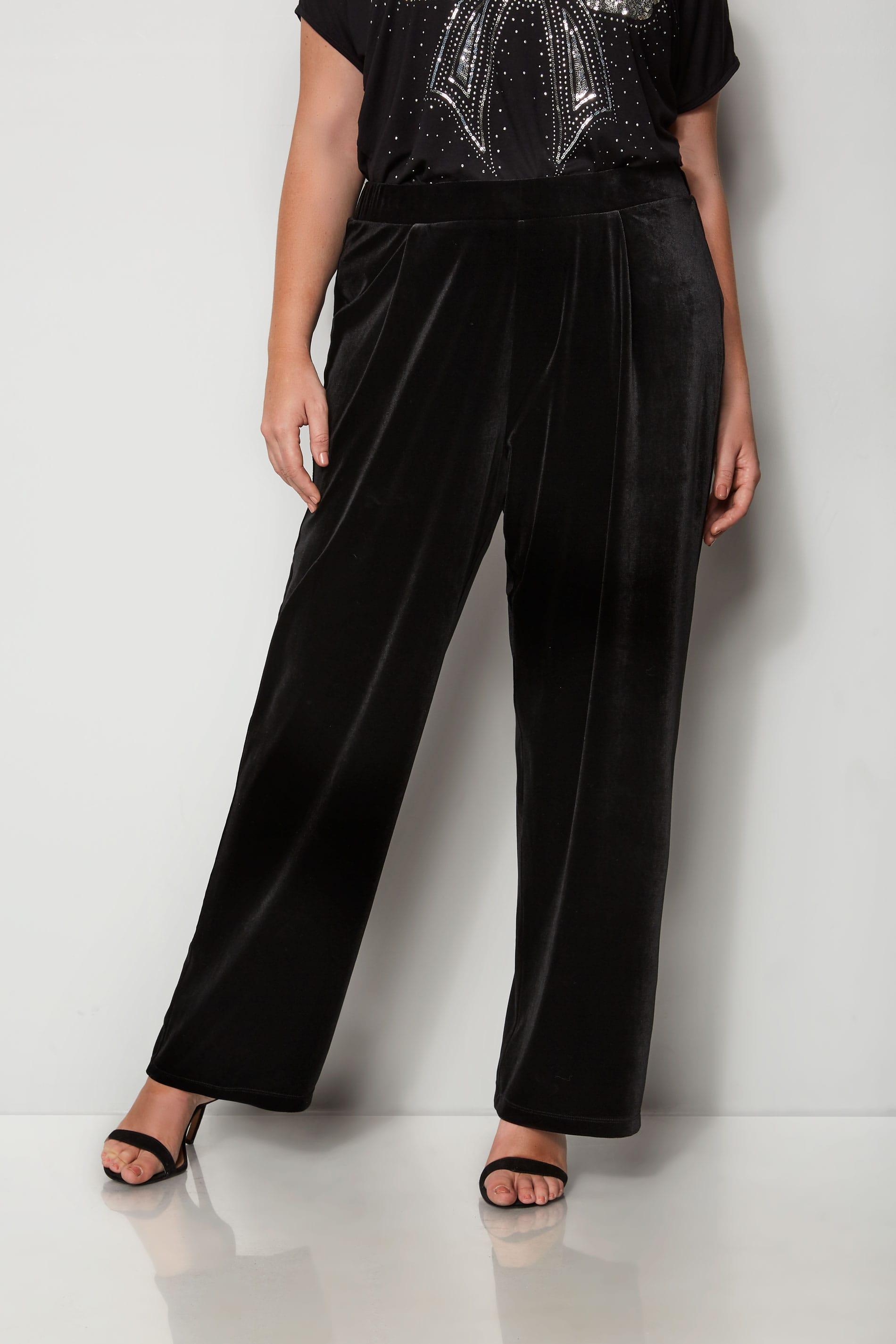 Zwarte fluwelen broek