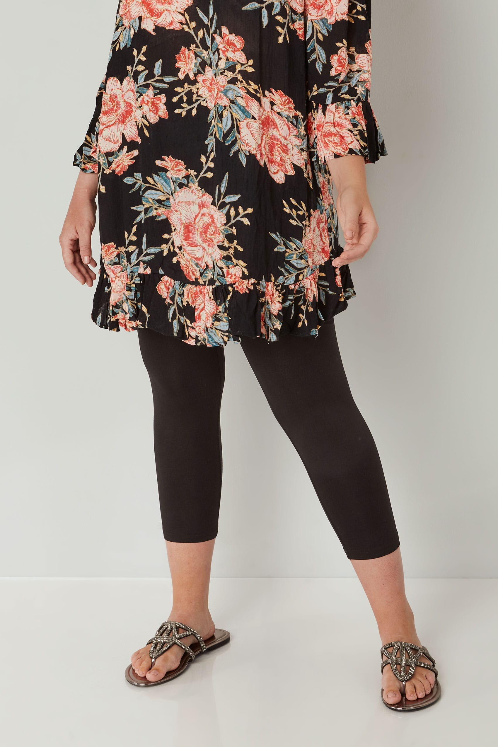 2 PACK Black Soft Touch Leggings Plus Size 16 to 36