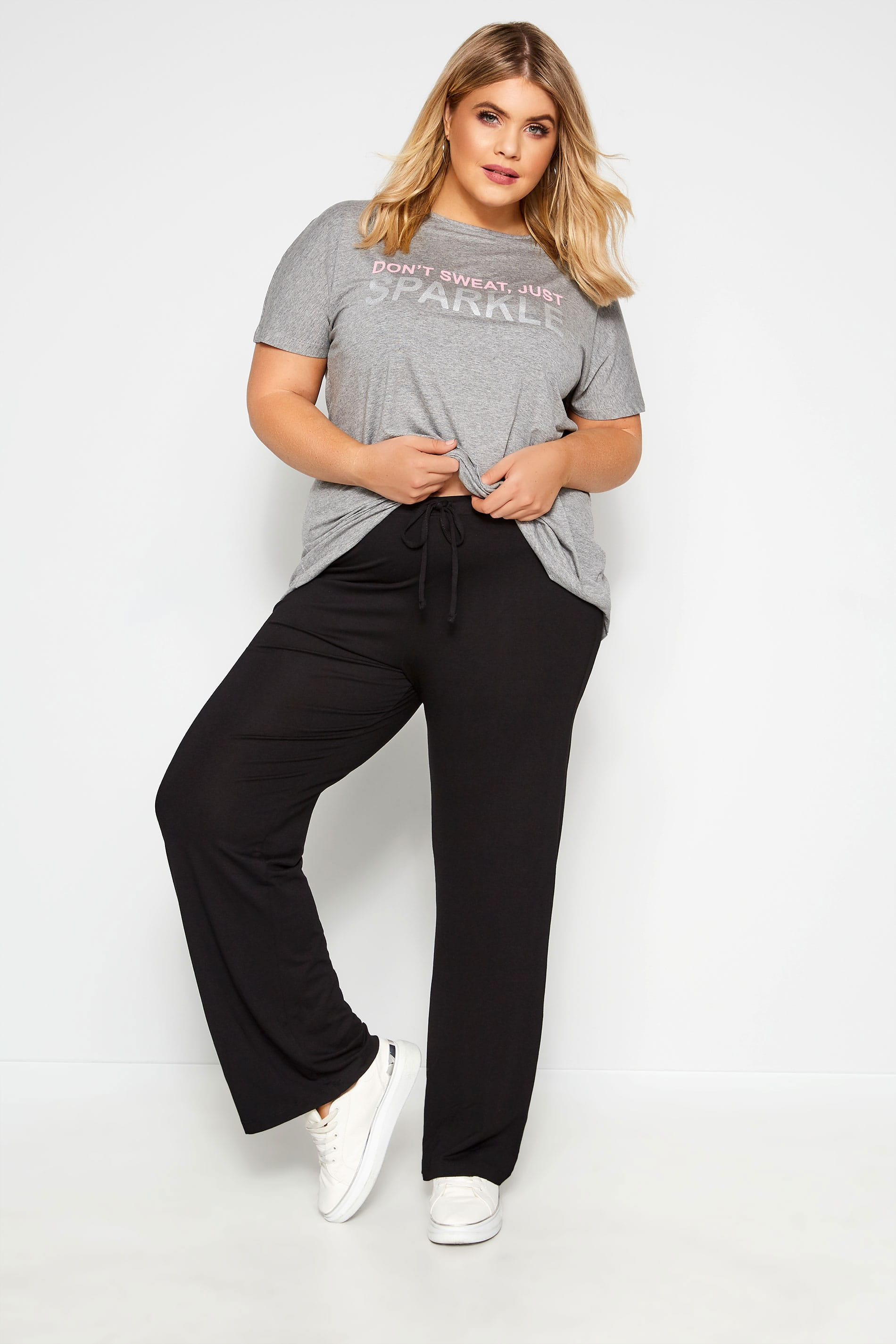 Women Ladies Palazzo Pyjama legging Baggy yoga Trousers plus size 24-26