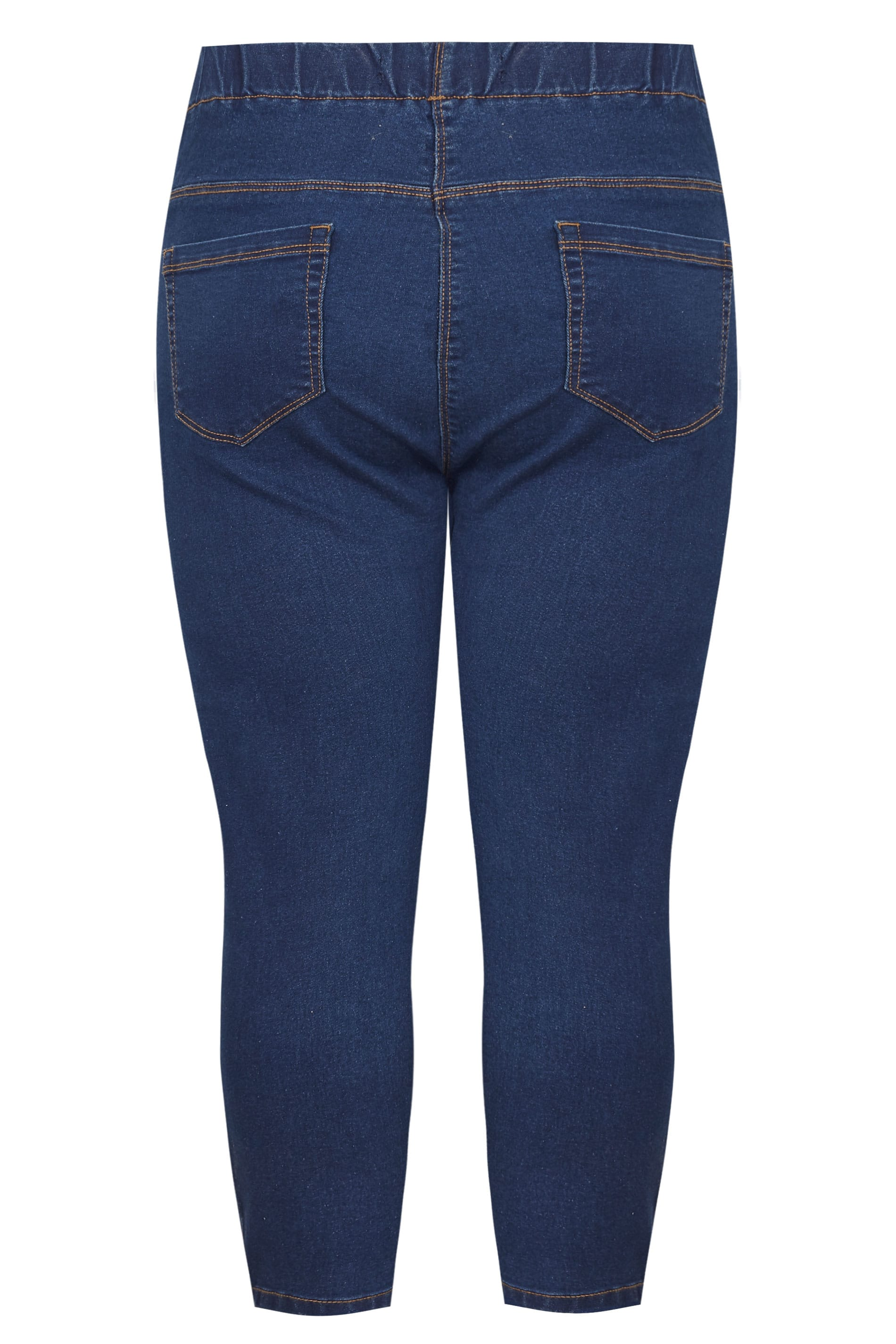 Yours-Clothing-Women-039-s-Plus-Size-Blue-Cropped-Jenny-Jeggings miniatuur 4
