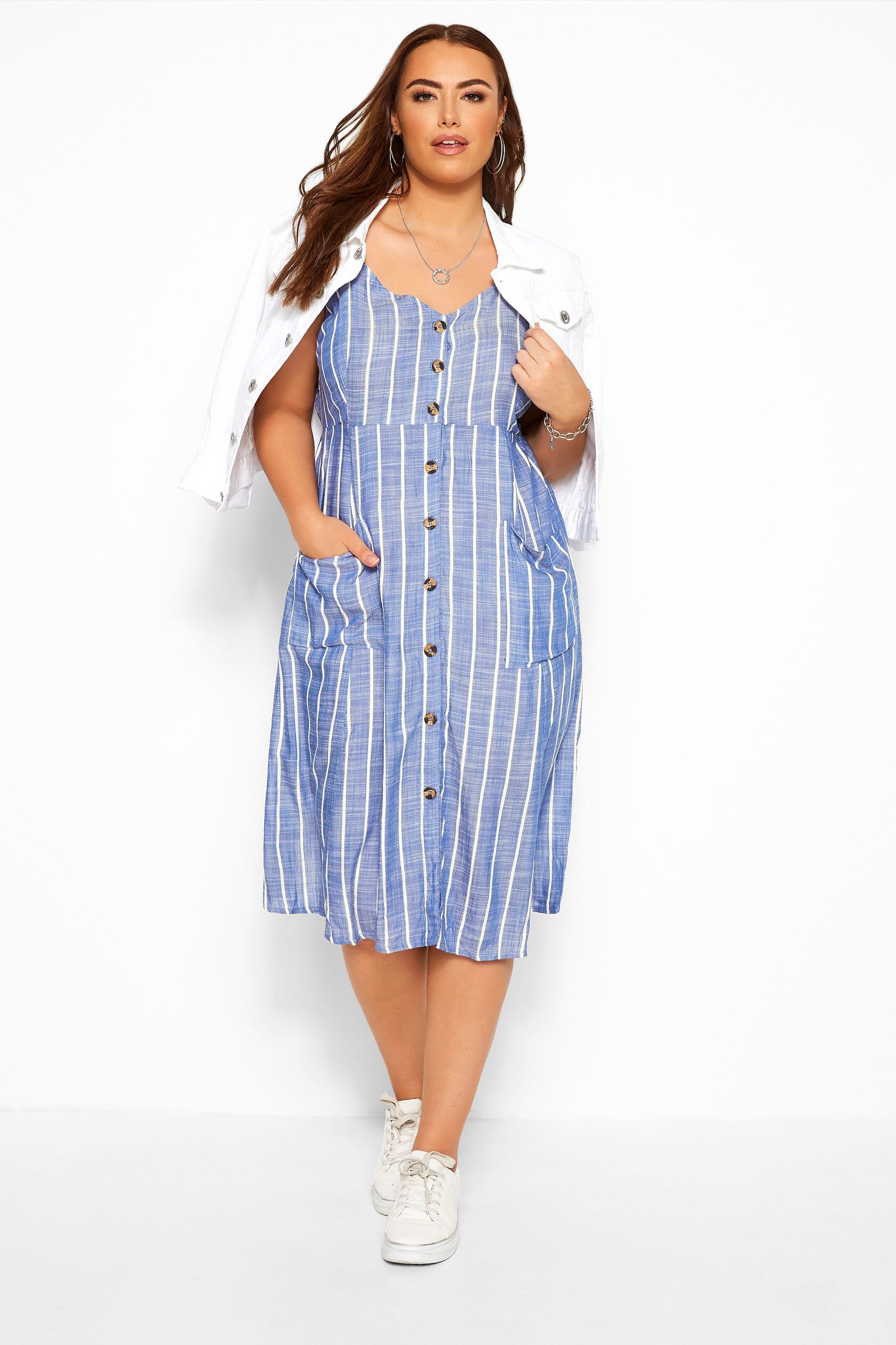 Blue Striped Sundress