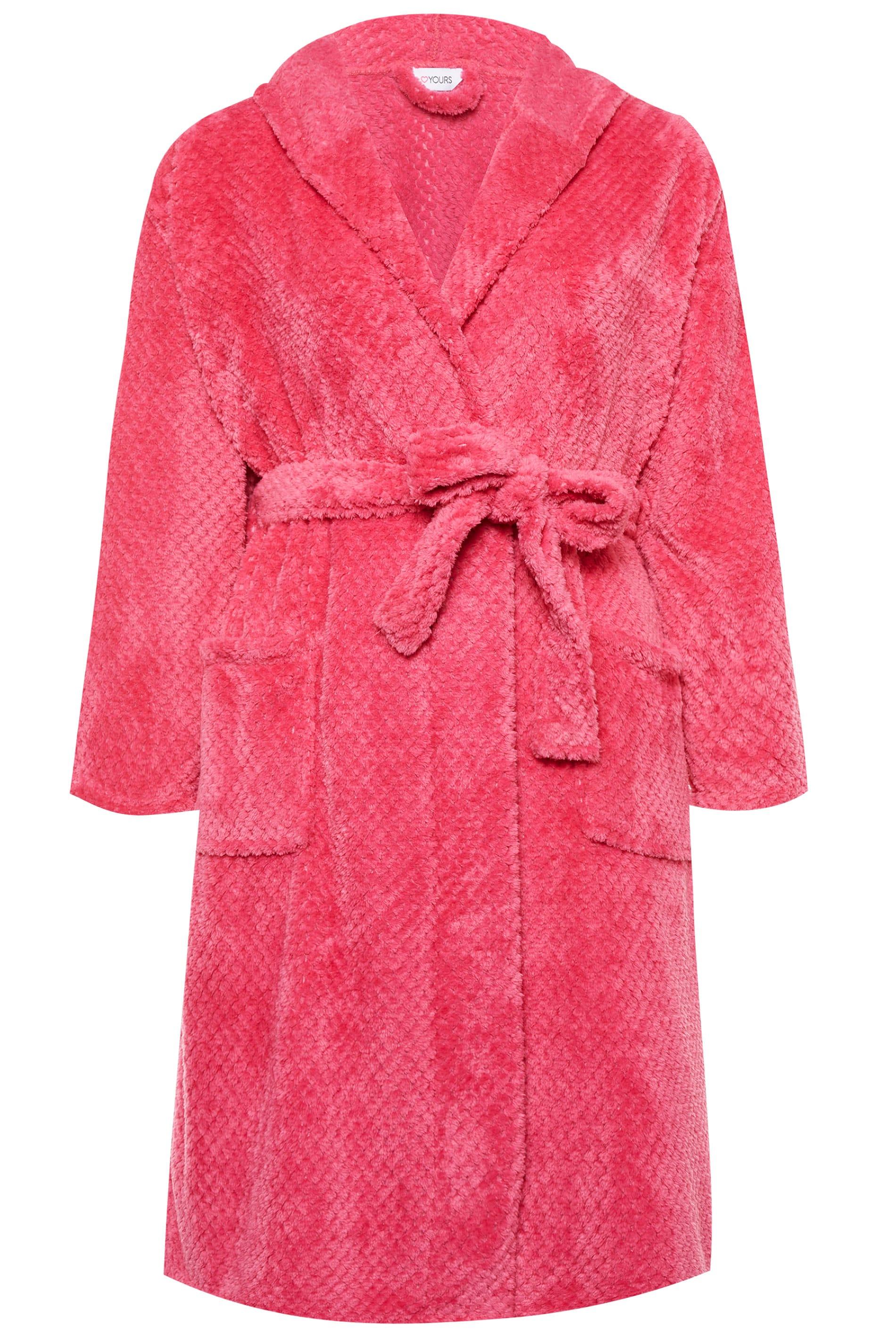 morgenmantel in waffel stoff pink. Black Bedroom Furniture Sets. Home Design Ideas