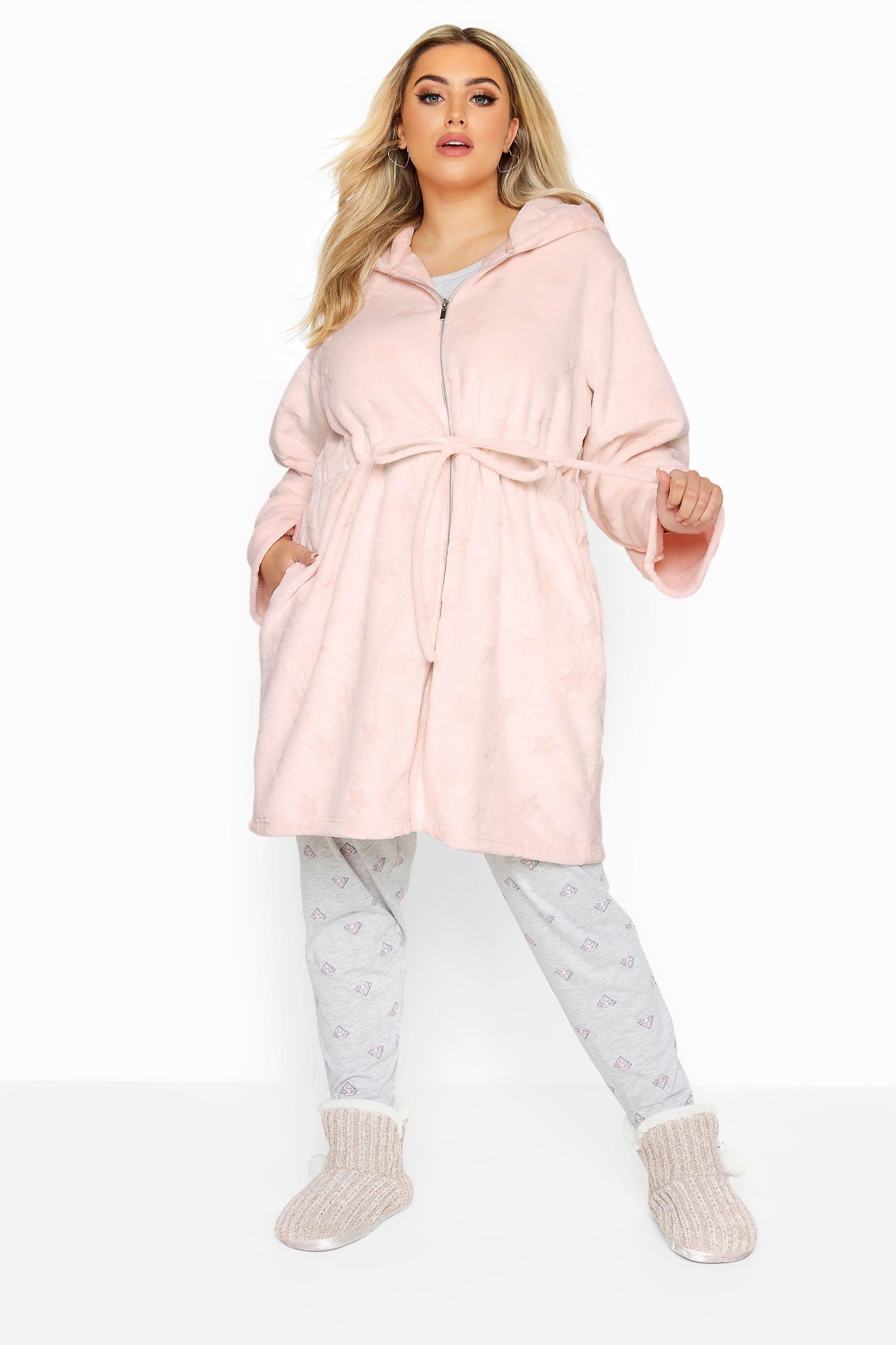 Pink Star Print Zip Dressing Gown_c4e5.jpg