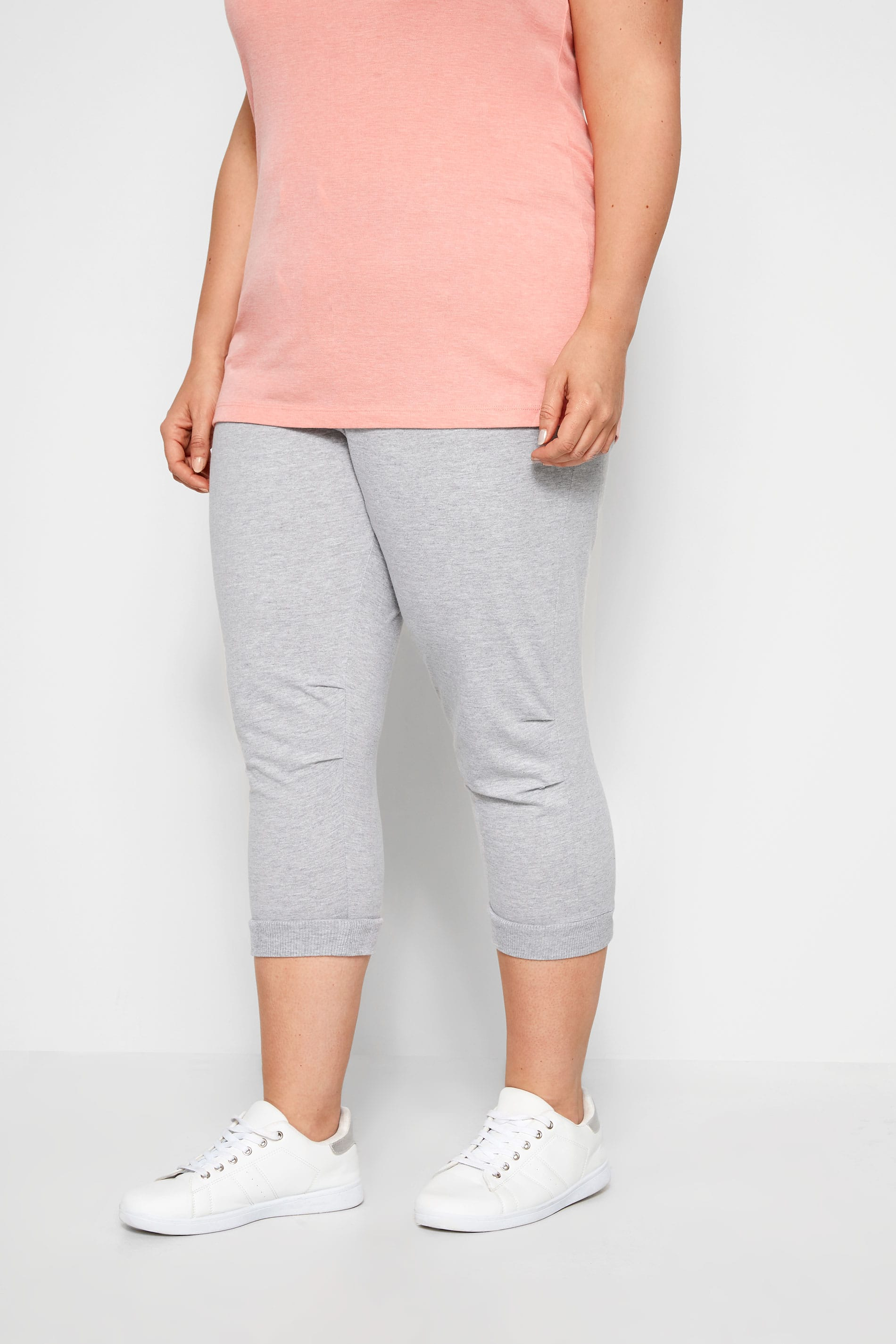 Grey Cropped Joggers