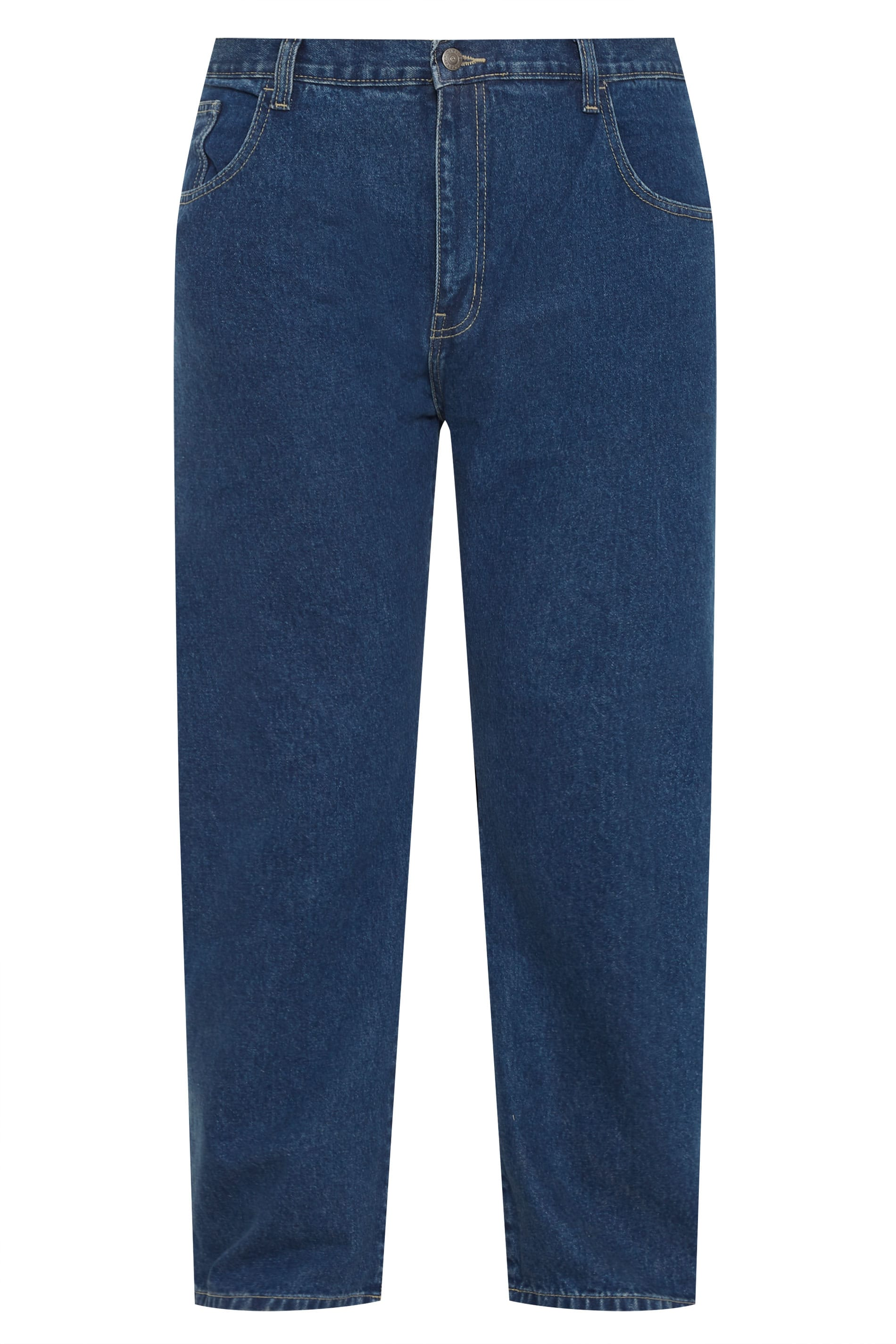 CARABOU Navy Stonewash Basic Jeans