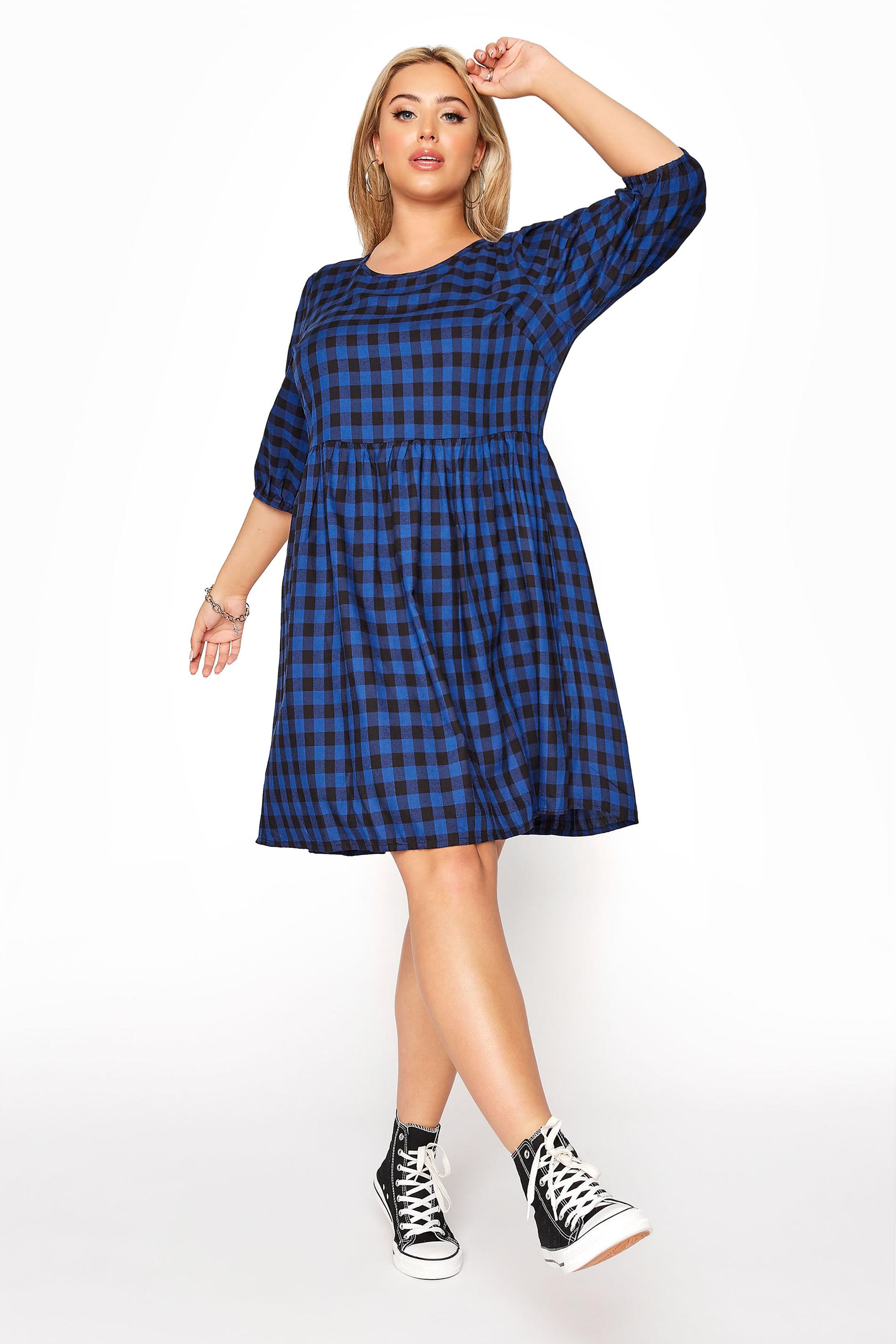 Cobalt Blue Gingham Peplum Dress_9b32.jpg