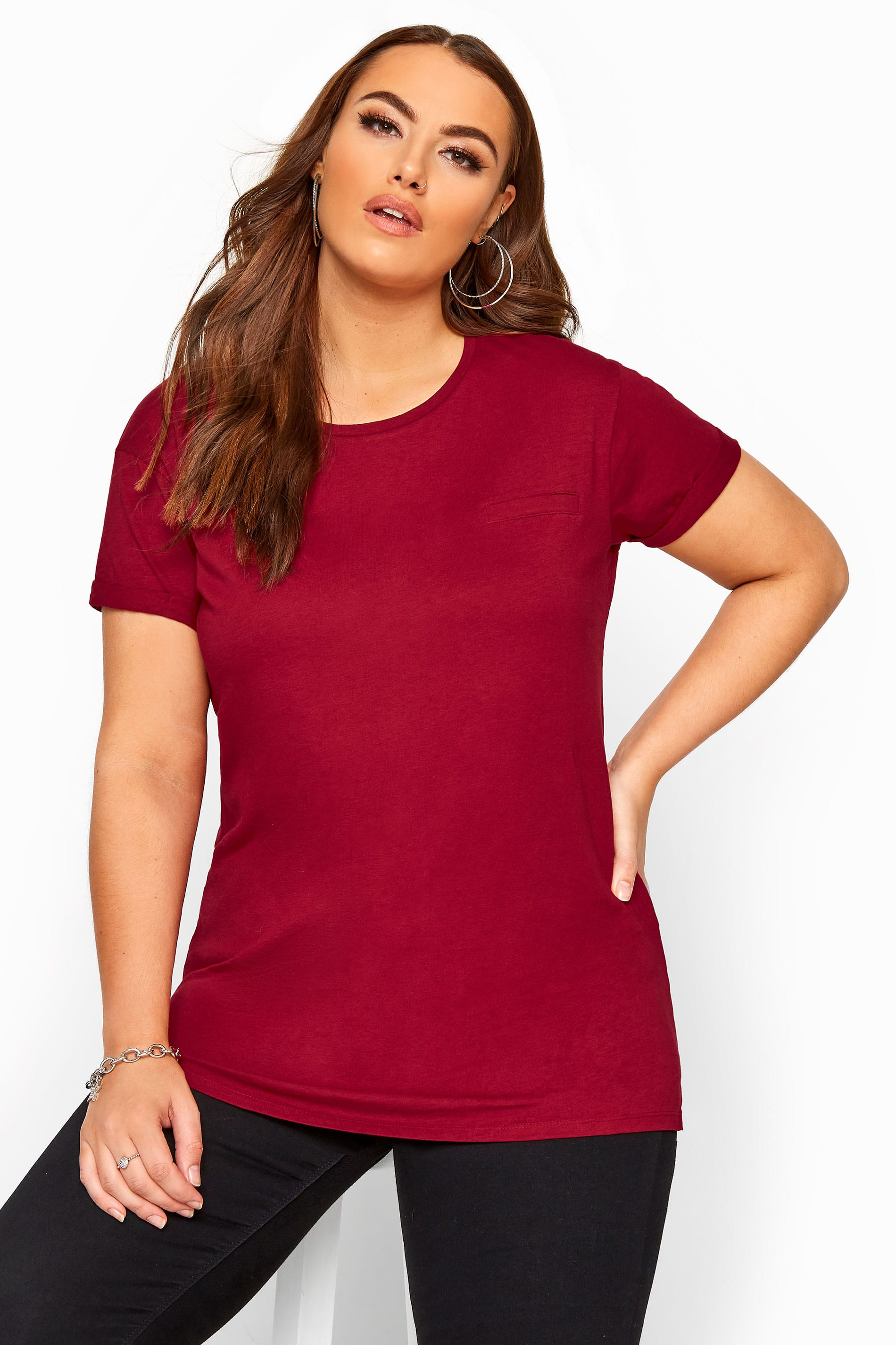 Cranberry Red Pocket T-Shirt