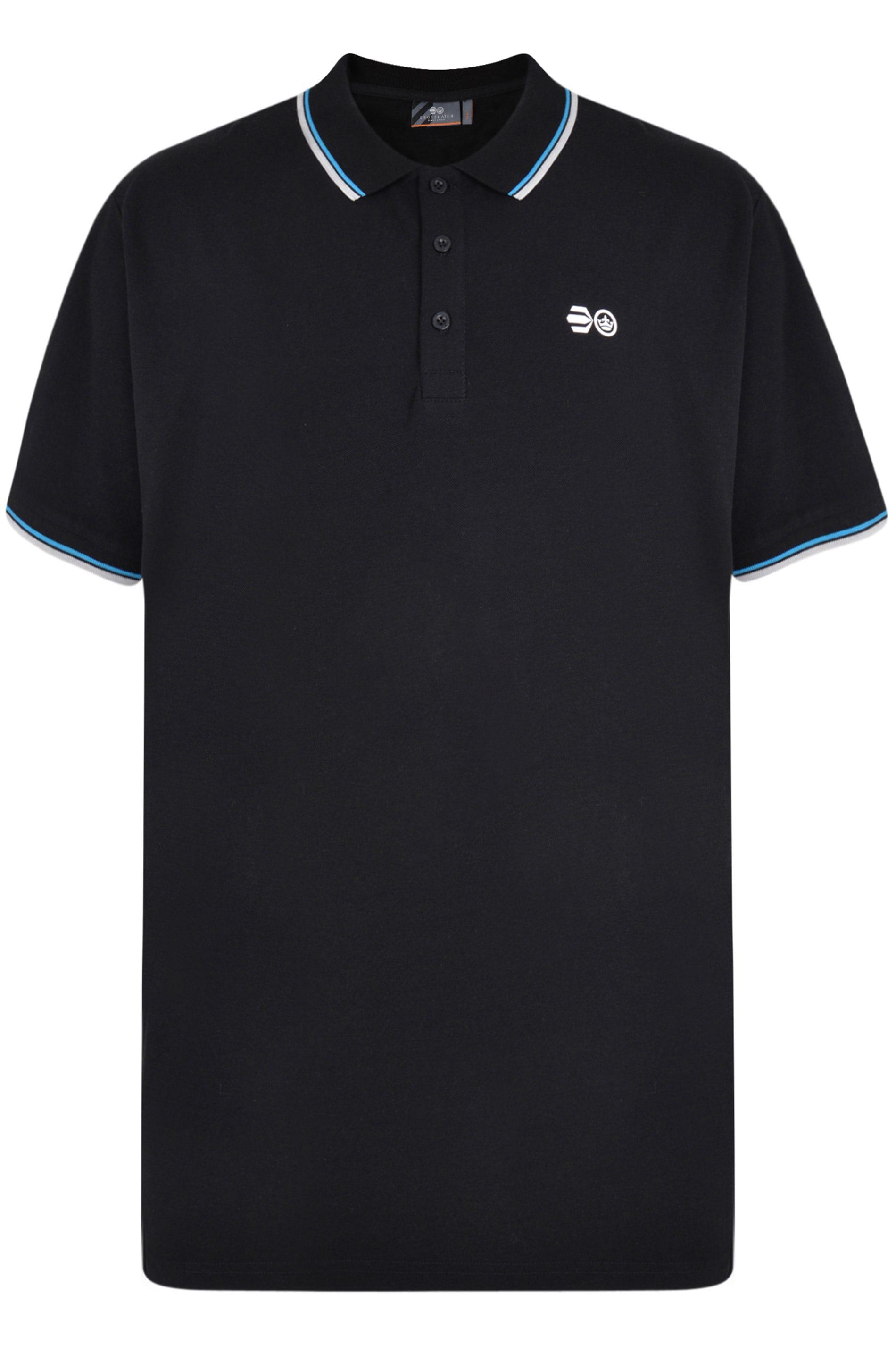 Crosshatch Black Tipped Polo Shirt