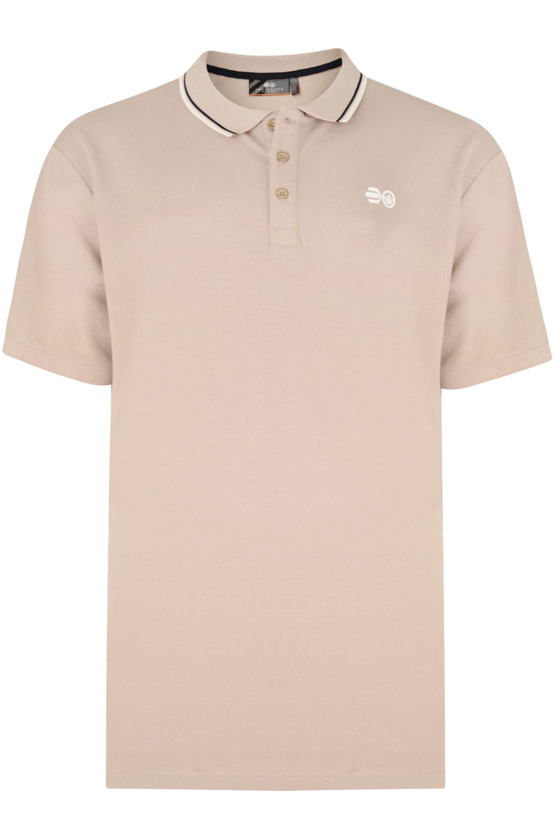 Crosshatch Stone Tipped Polo Shirt