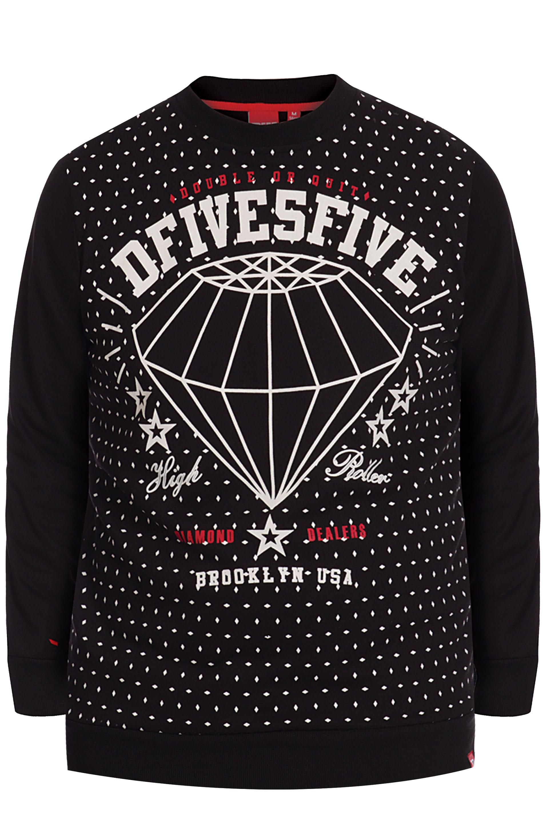 D555 Black Diamond Slogan Sweater