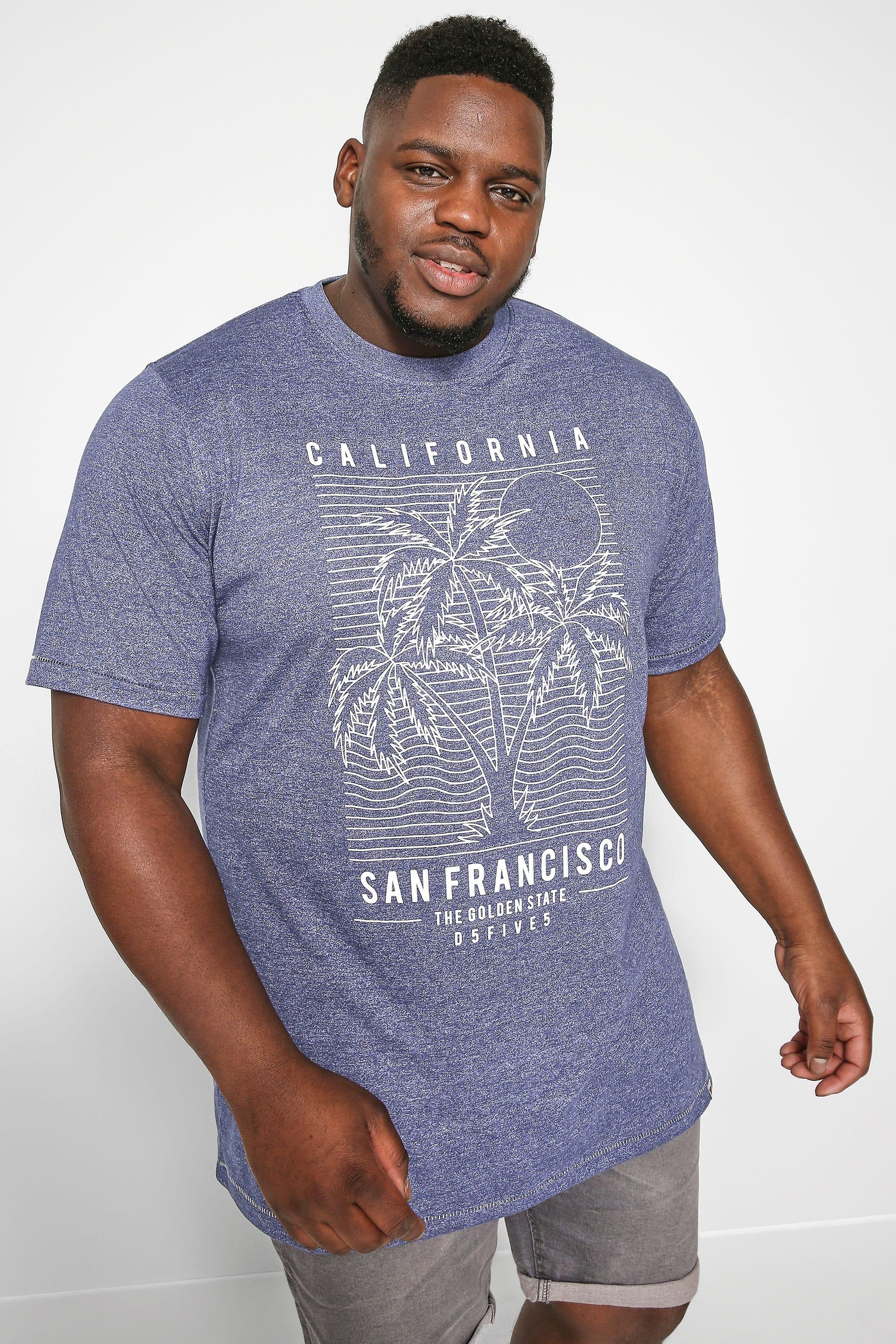 D555 Blue Marl 'San Francisco' T-Shirt