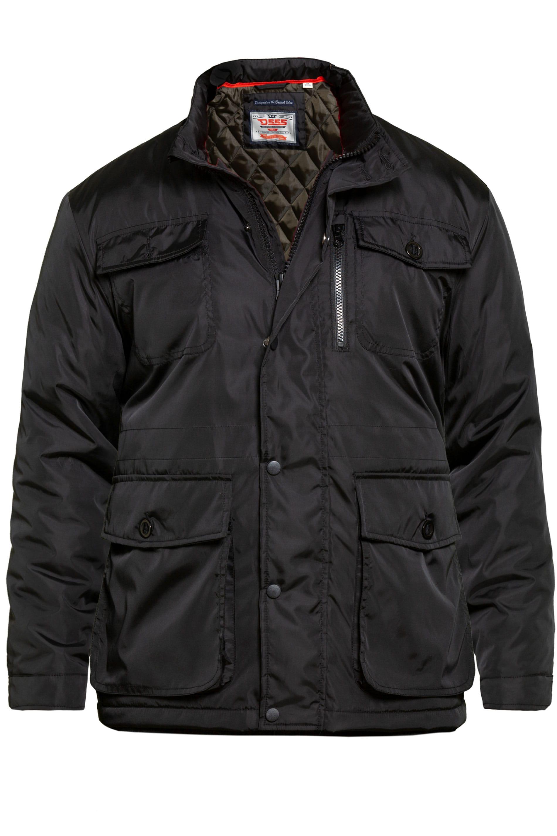 D555 Black Five Pocket Coat
