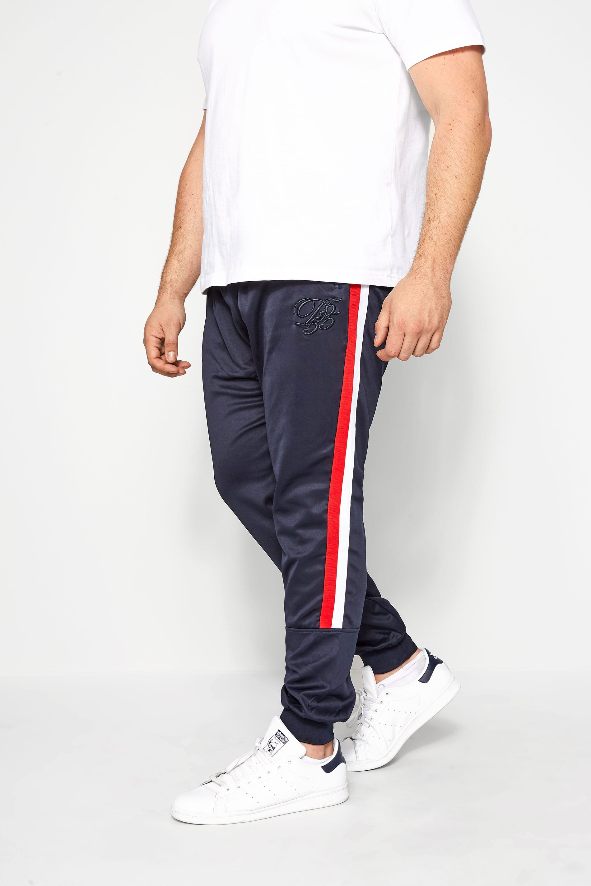 D555 COUTURE Navy Taped Joggers