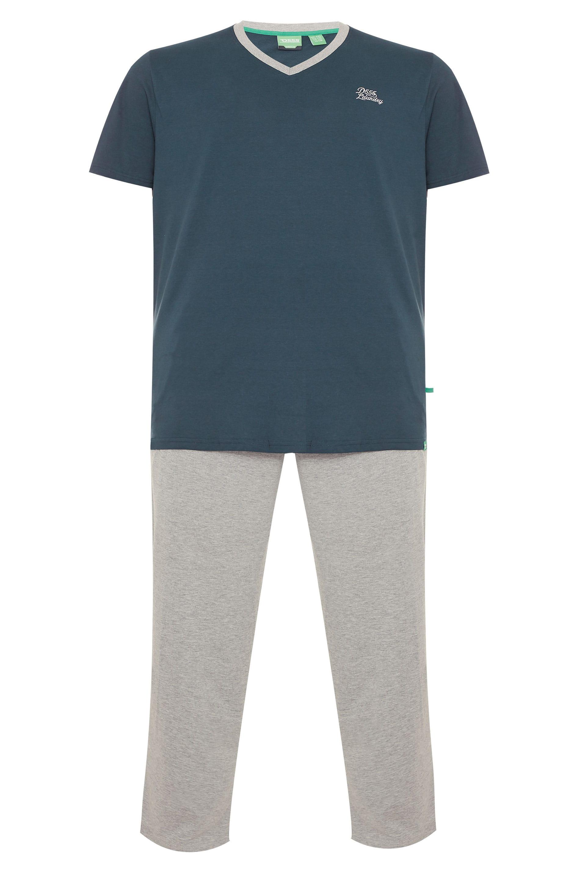 D555 Navy & Grey Pyjama Set