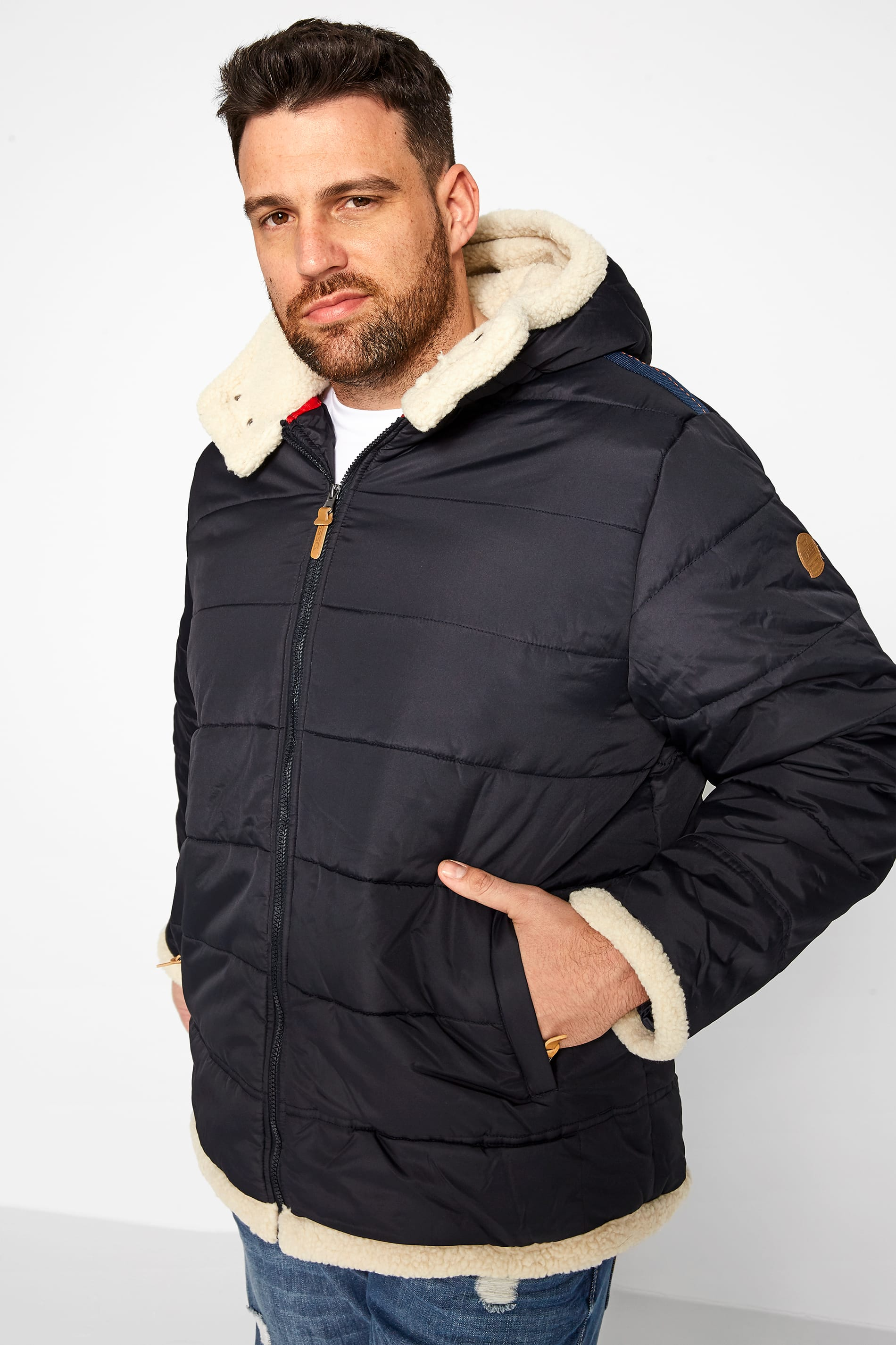 D555 Navy Padded Coat