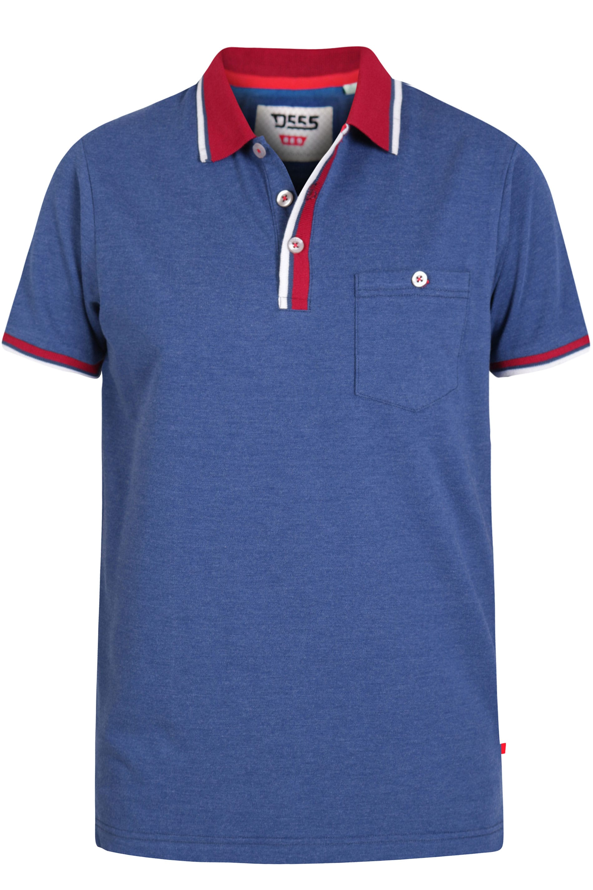D555 Blue Marl Polo Shirt