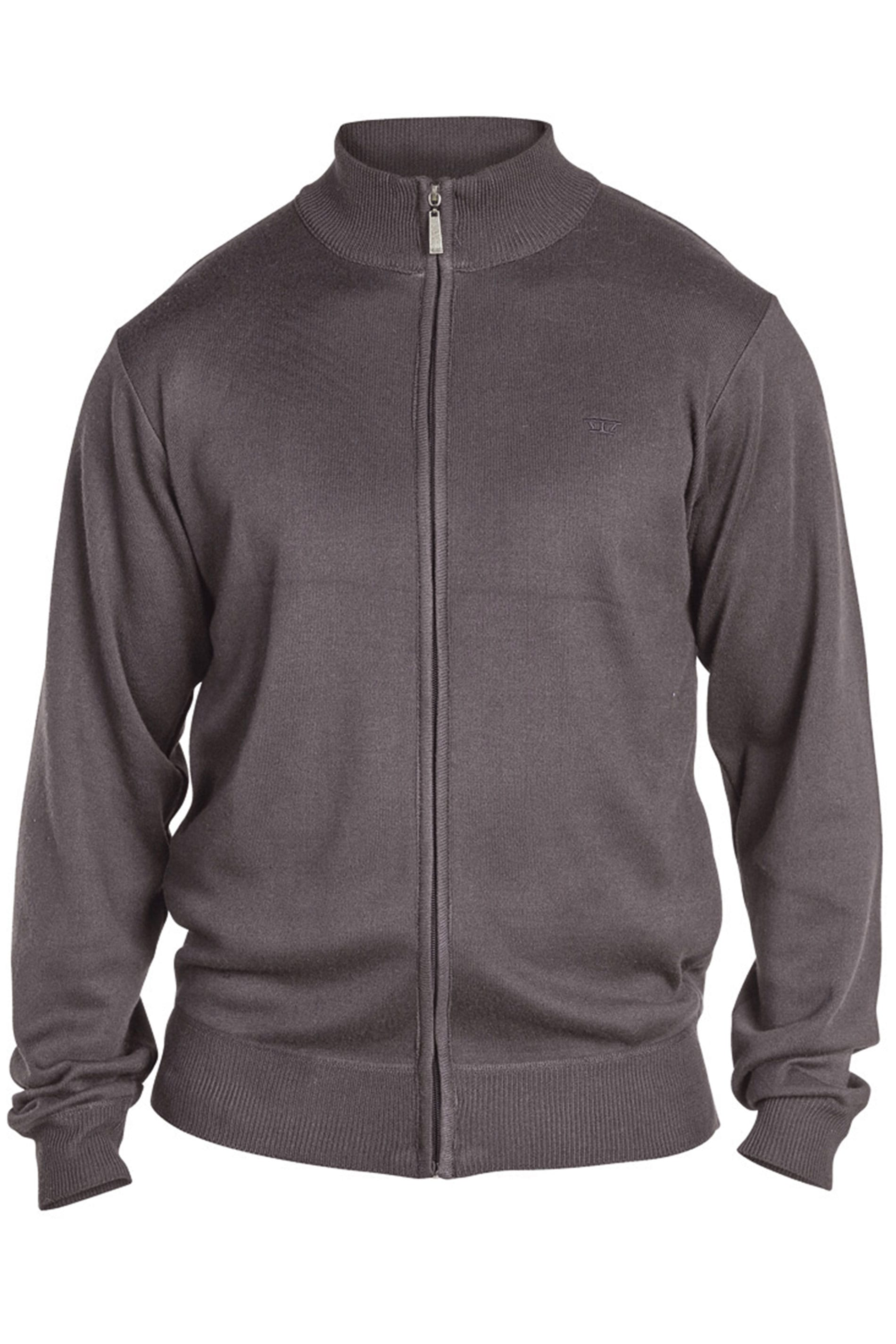 D555 Grey Full Zip Sweatshirt