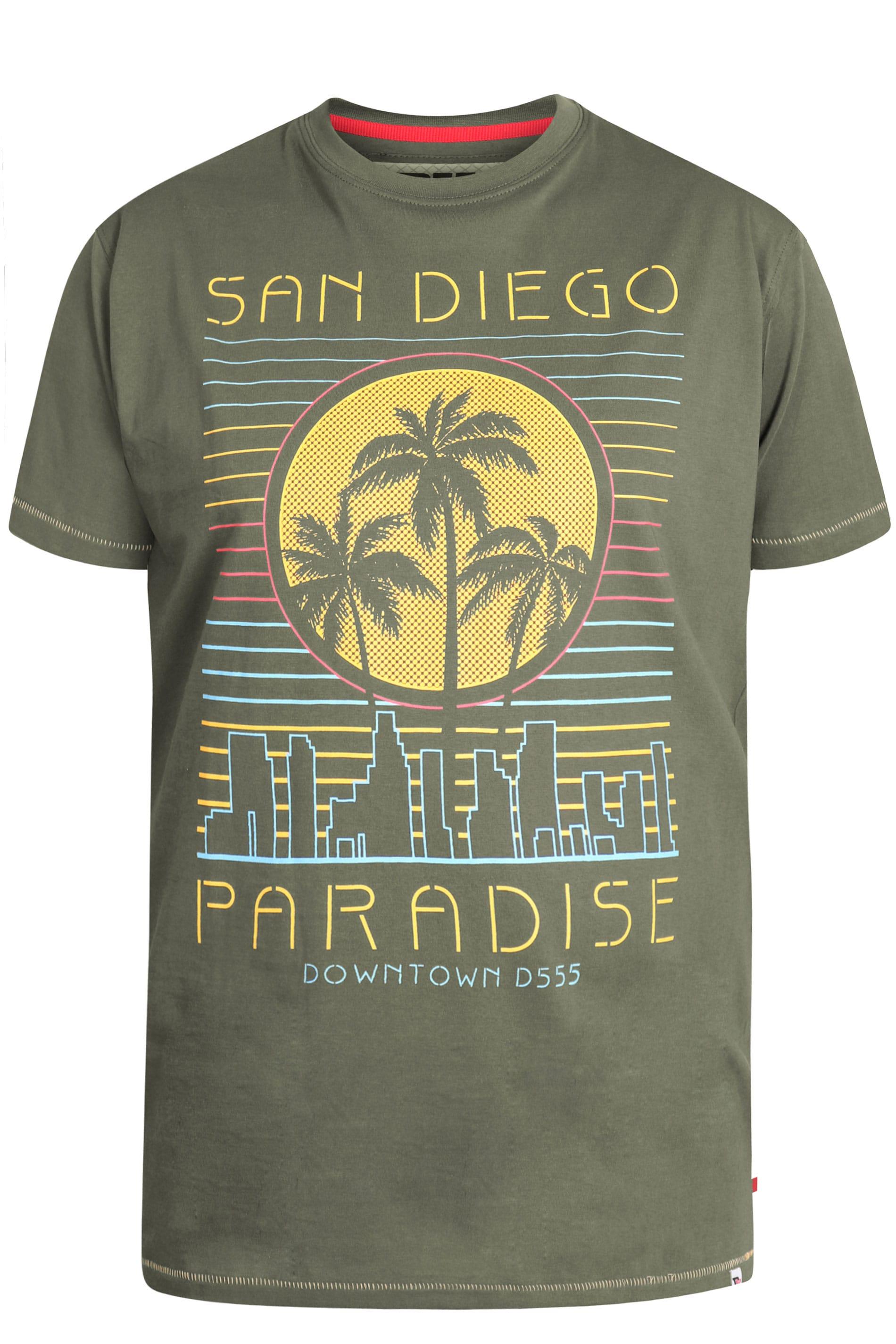 D555 Khaki 'San Diego' Printed T-Shirt
