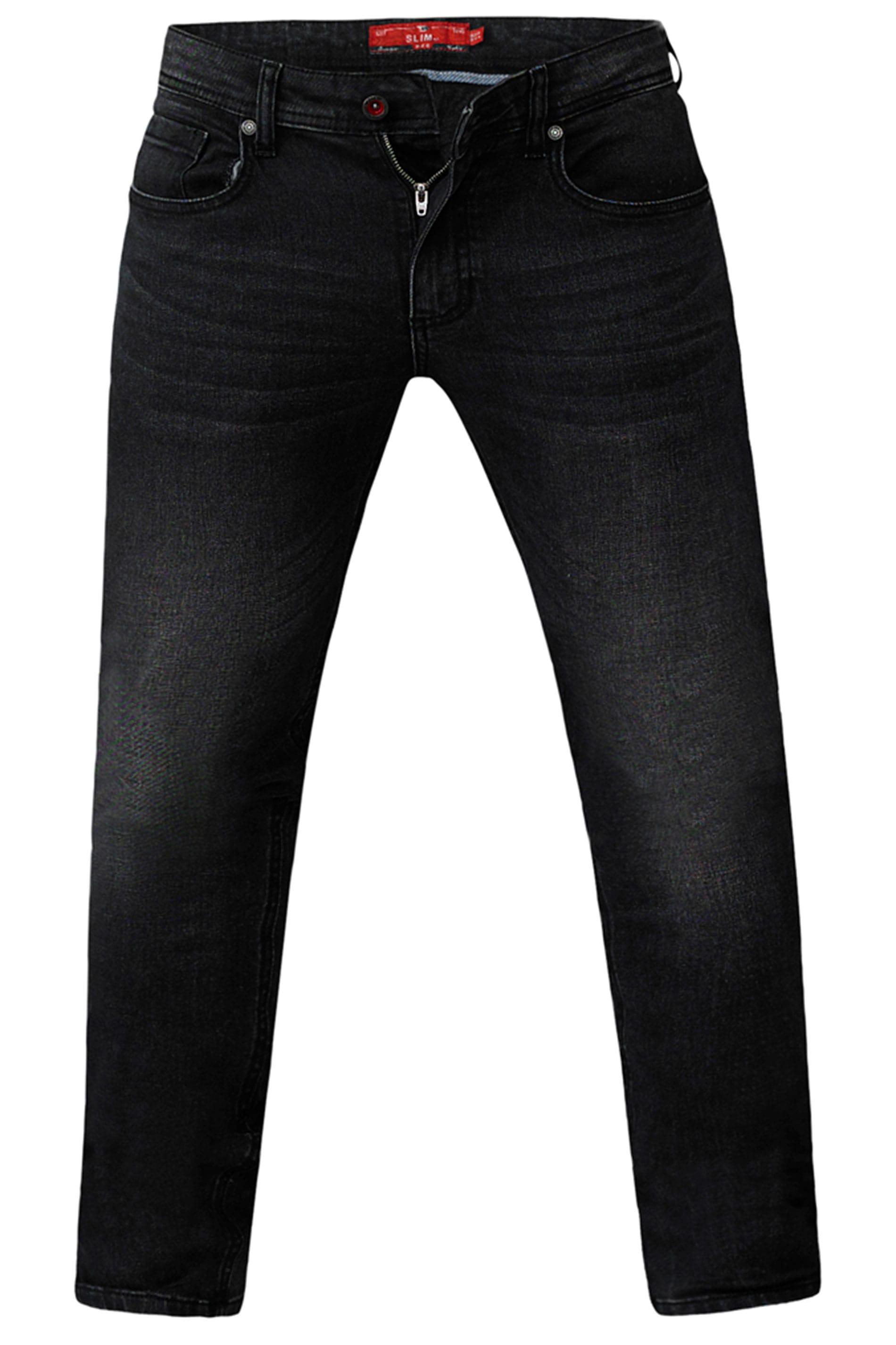 D555 Grey Tapered Stretch Denim Jeans