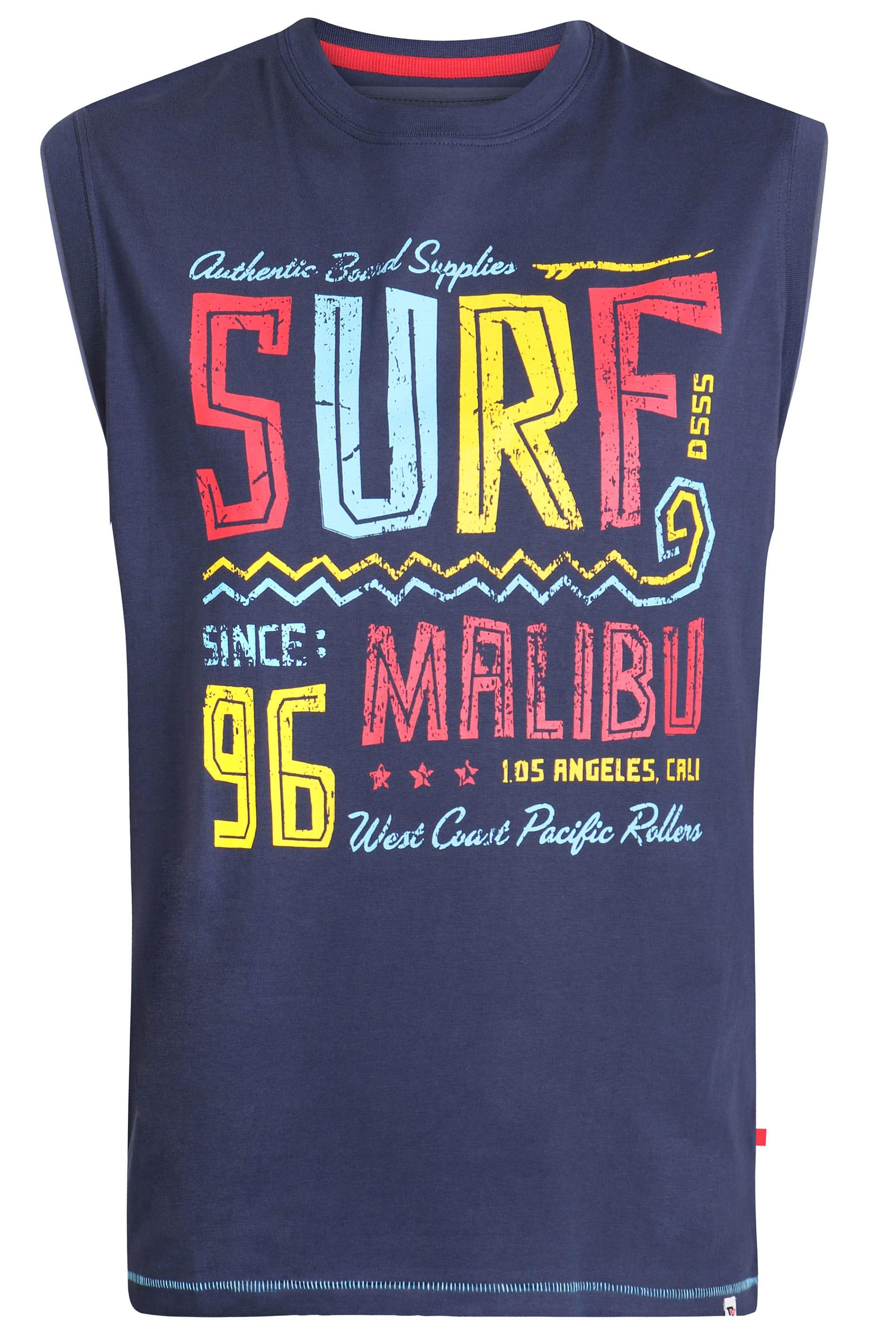 D555 Navy 'Surf' Slogan Vest_db4a.jpg