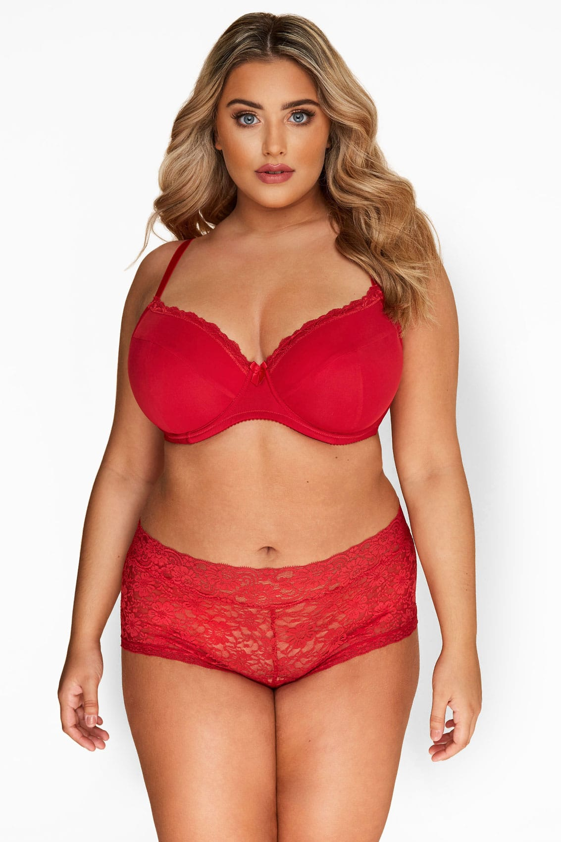 Deep Red Lace Underwired T-Shirt Bra