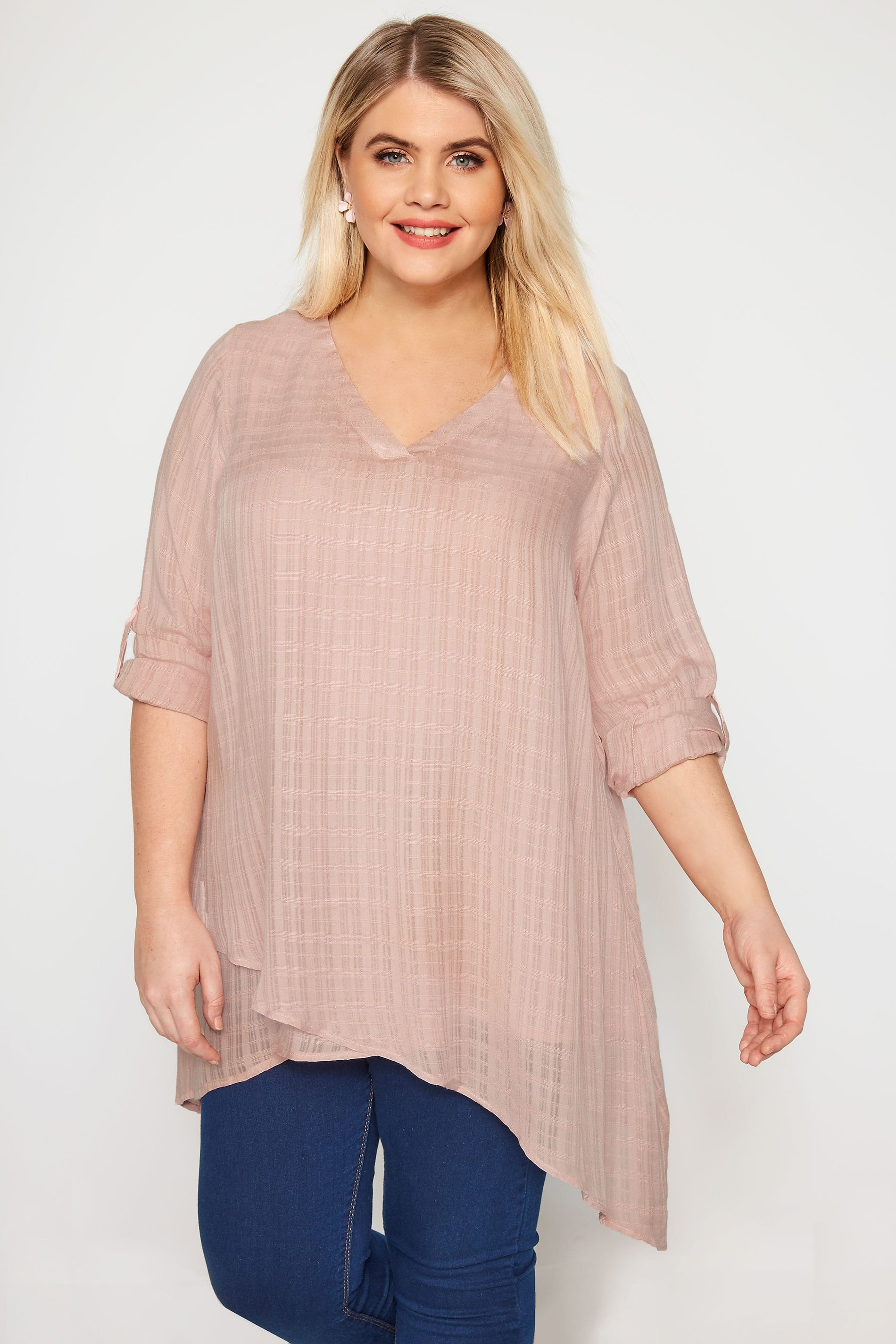 Dusky Pink Layered Blouse