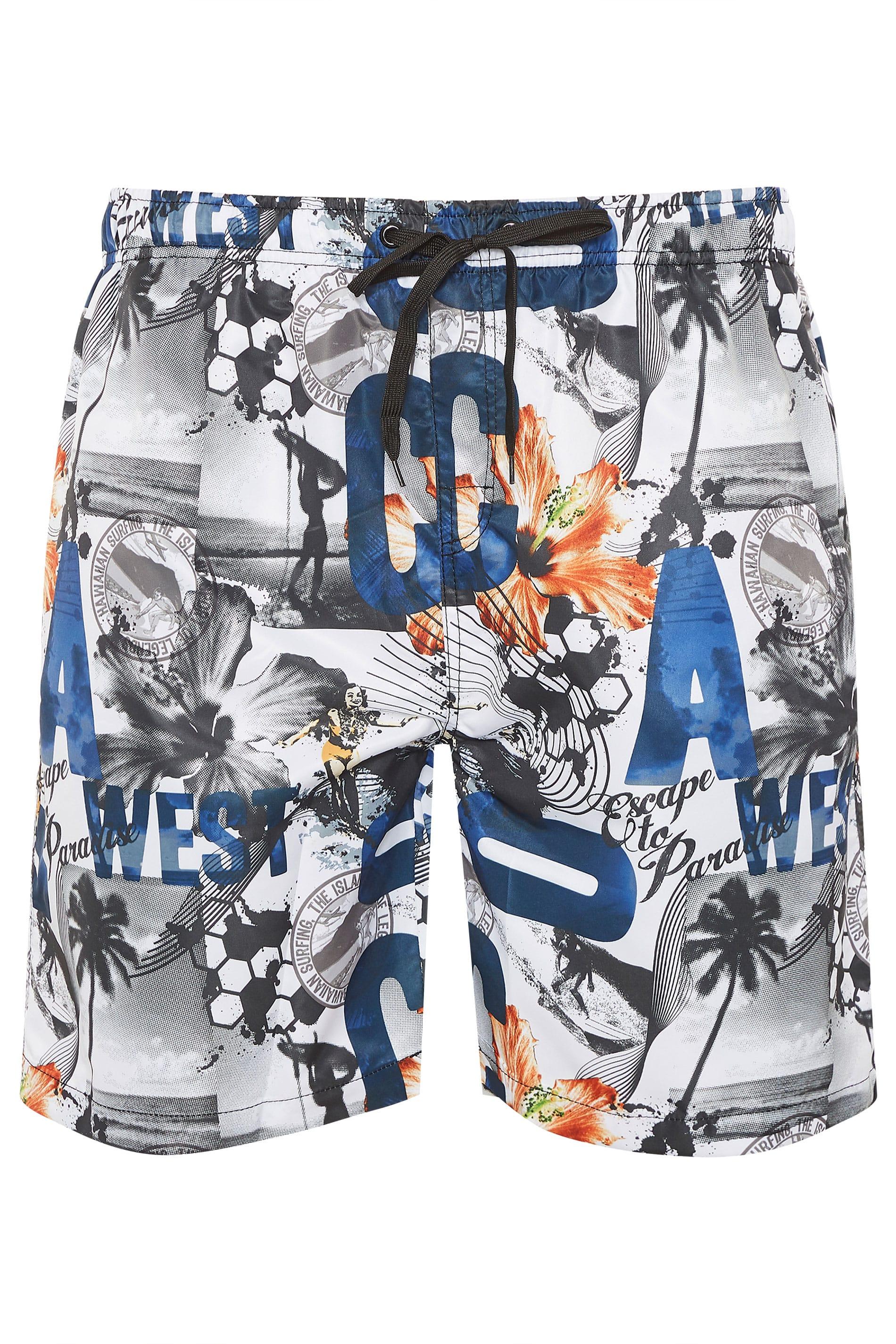 ED BAXTER Multi Printed Swim Shorts