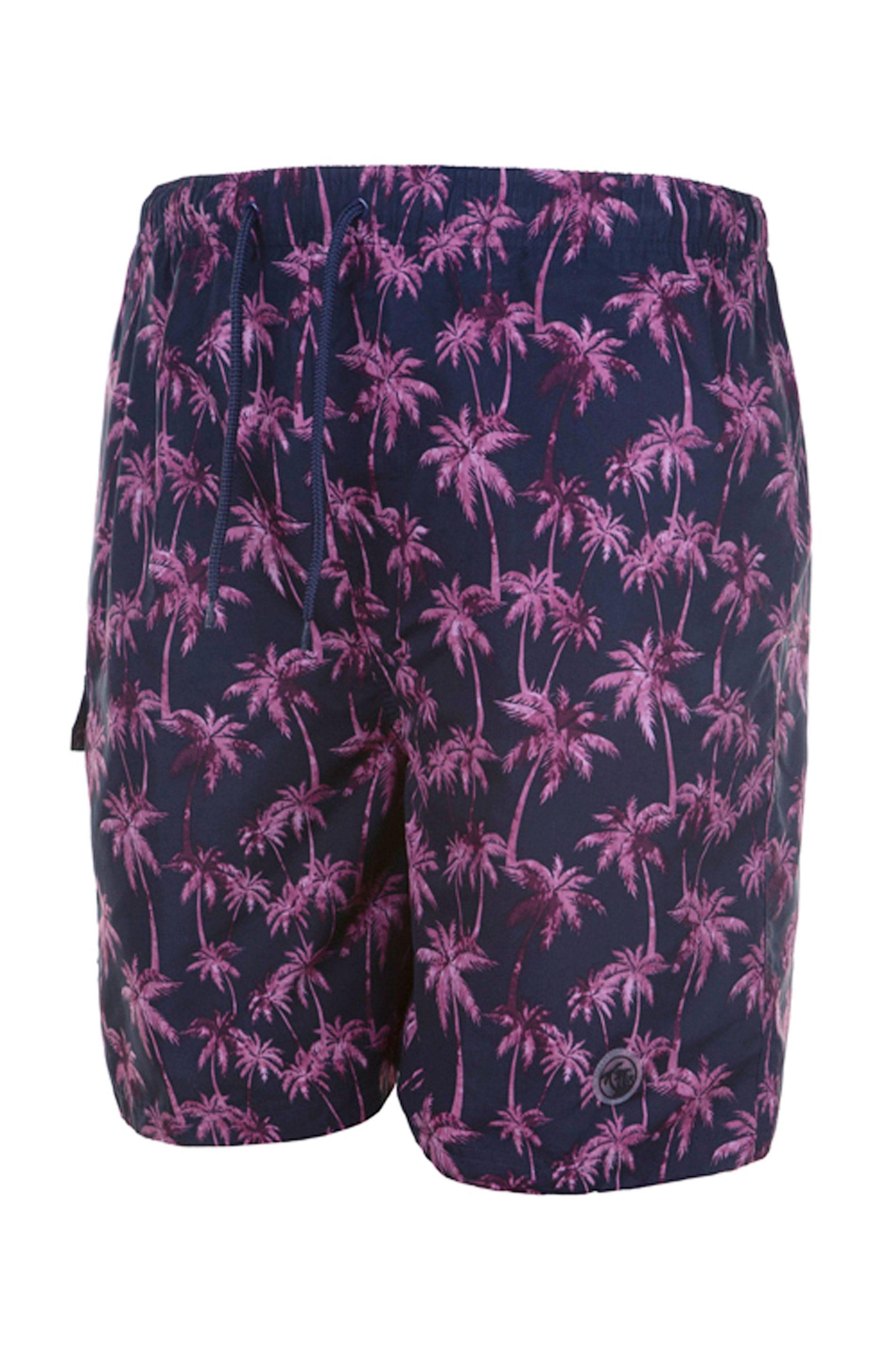 ESPIONAGE Navy Tropical Swim Shorts