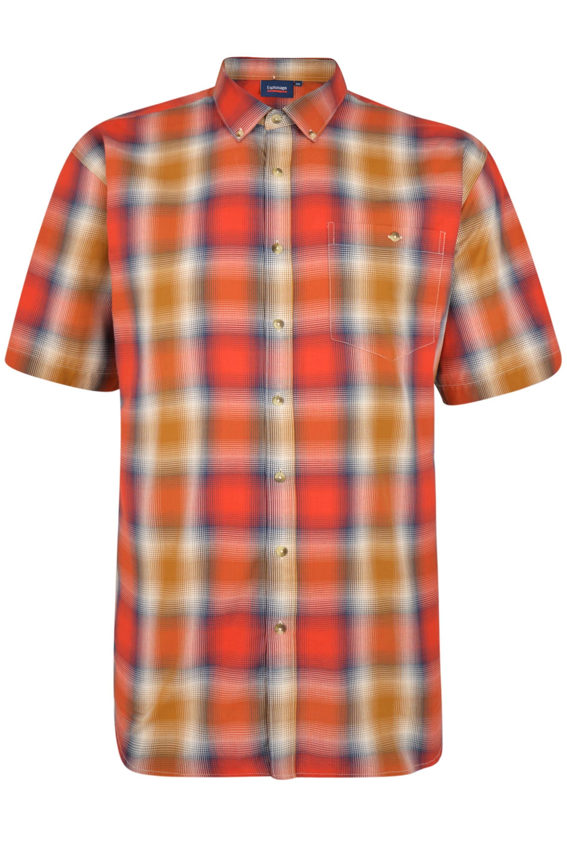 ESPIONAGE Orange Check Shirt