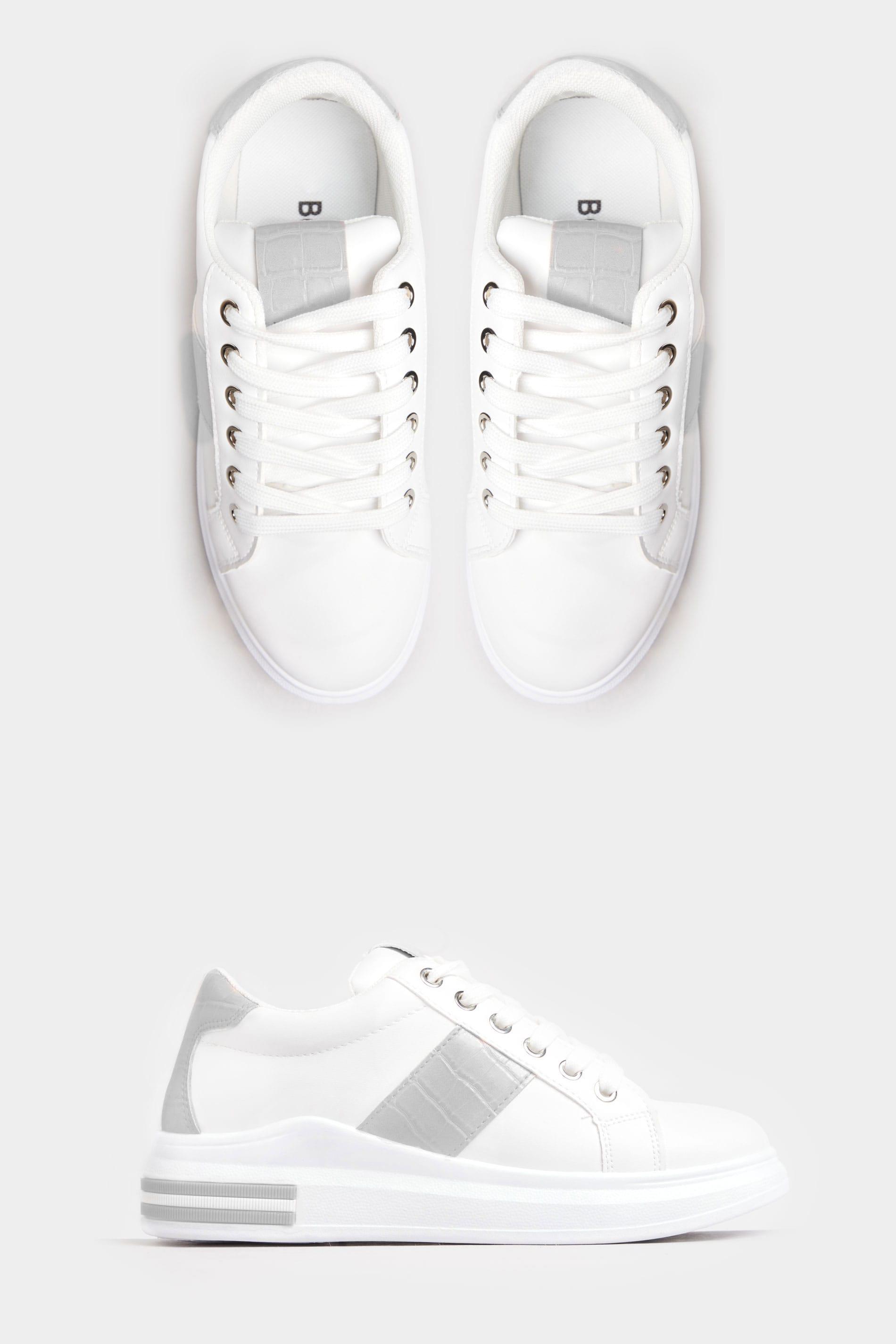 LIMITED COLLECTION Białe buty sportowe, grey croc effect