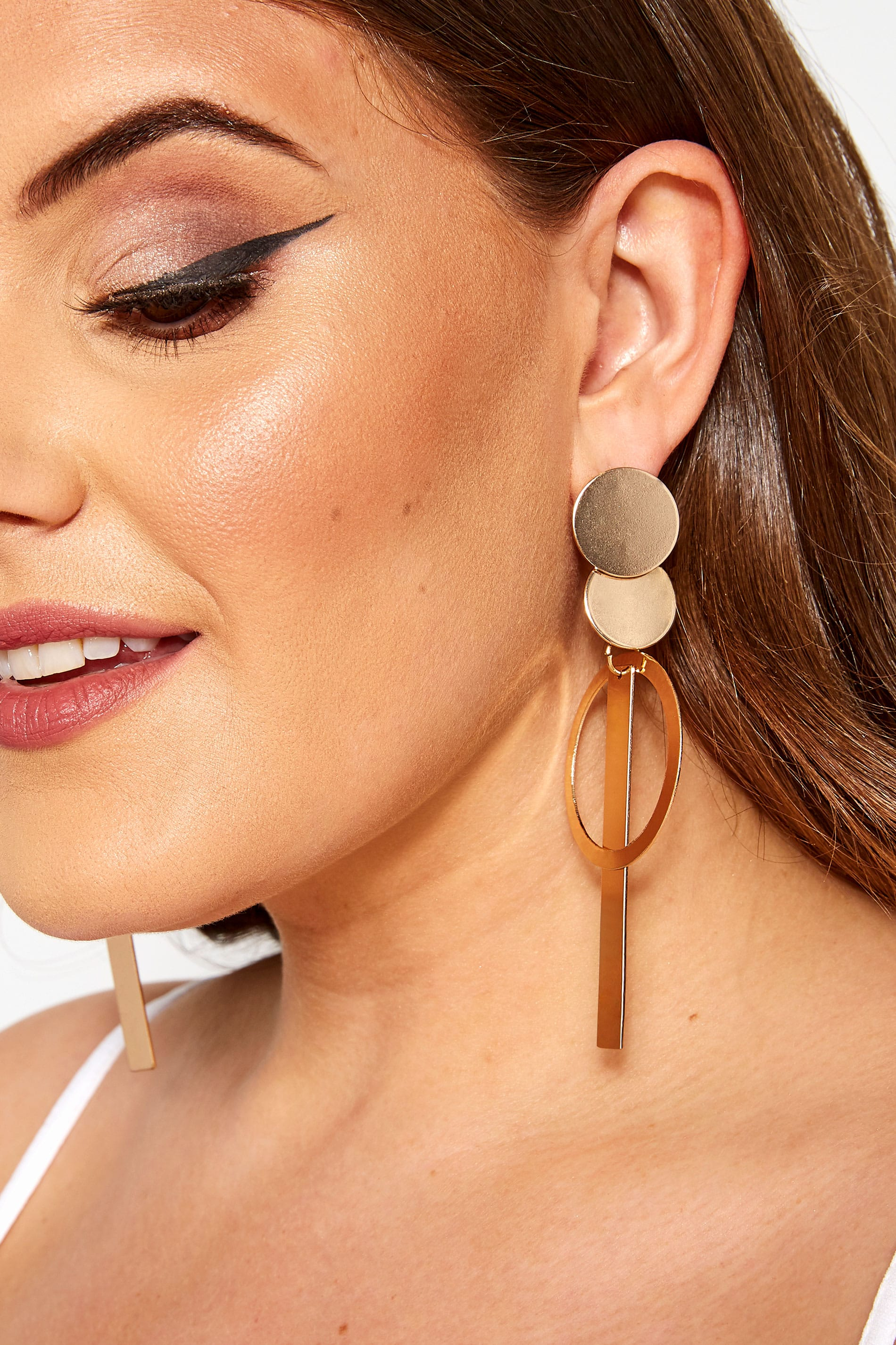 Gold Loop Tassel Earrings