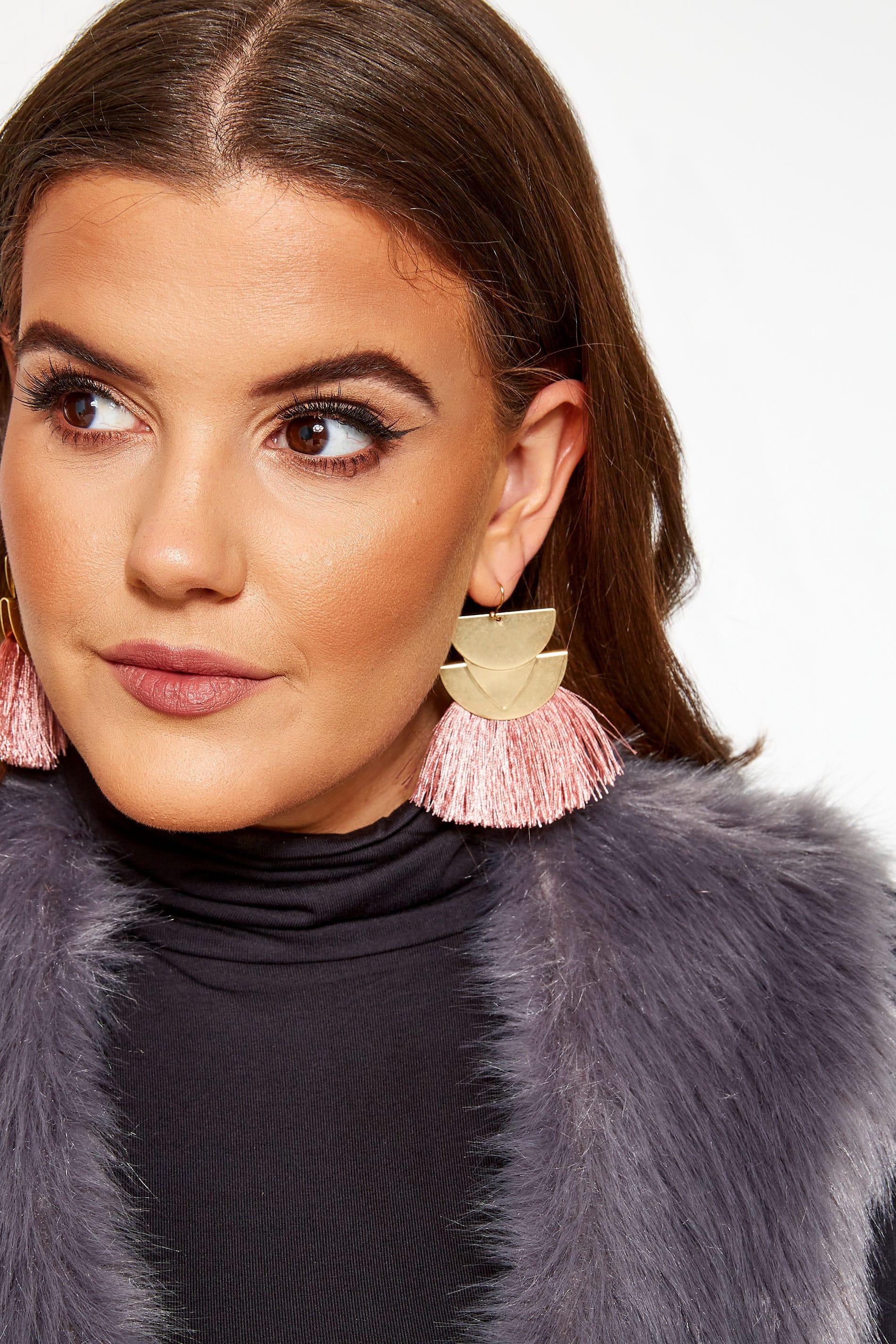 Gold and Pink Tassel Earrings_0a0d.jpg