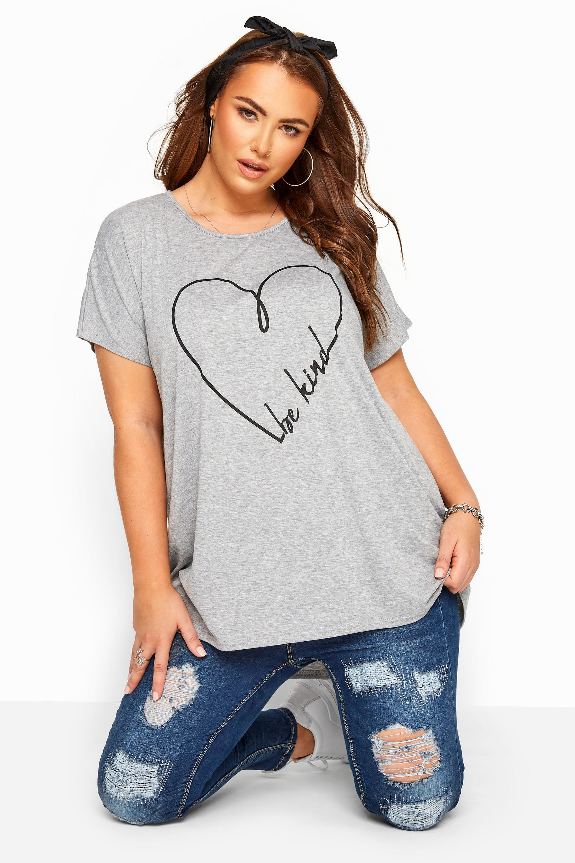 Grey 'Be Kind' T-Shirt