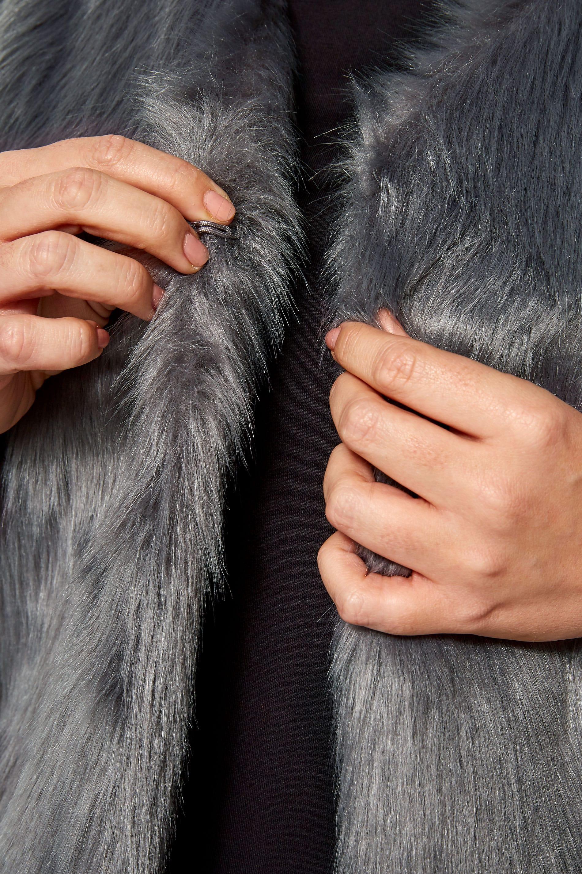 grey faux fur gilet yours clothing. Black Bedroom Furniture Sets. Home Design Ideas