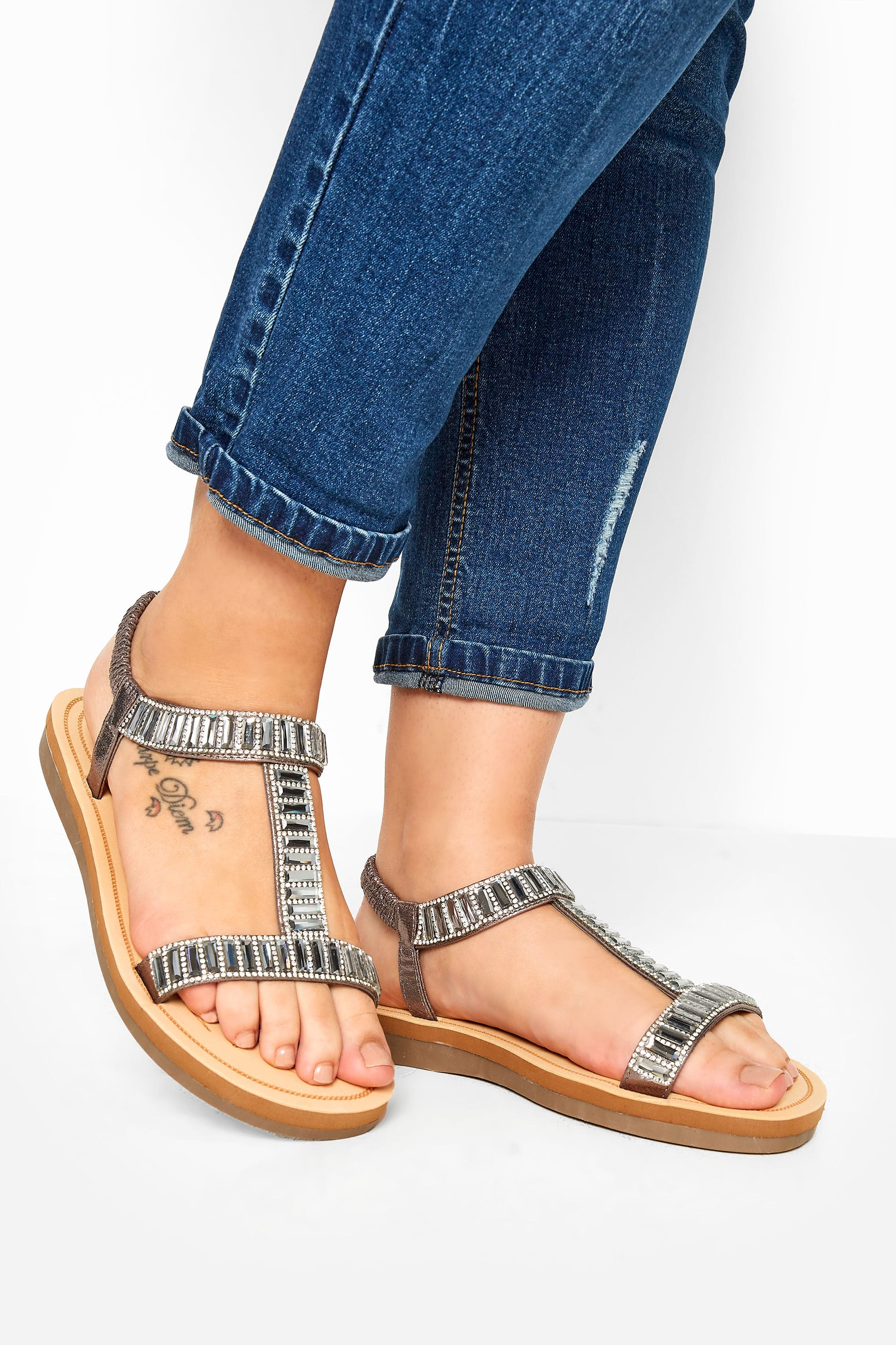 Grey Sparkle H-Band Sandals In Extra Wide Fit_475e.jpg