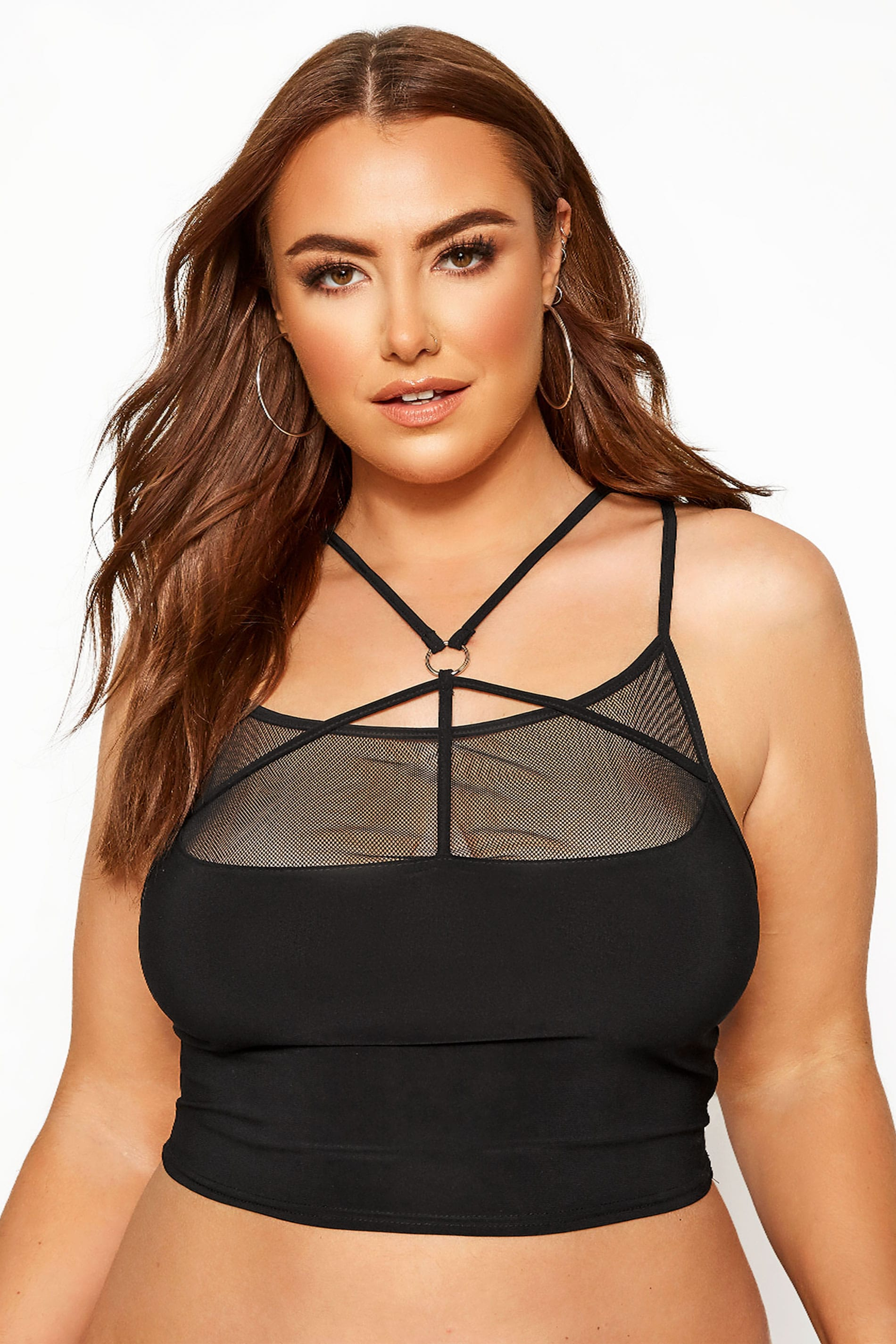 LIMITED COLLECTION Black Mesh Harness Bralette