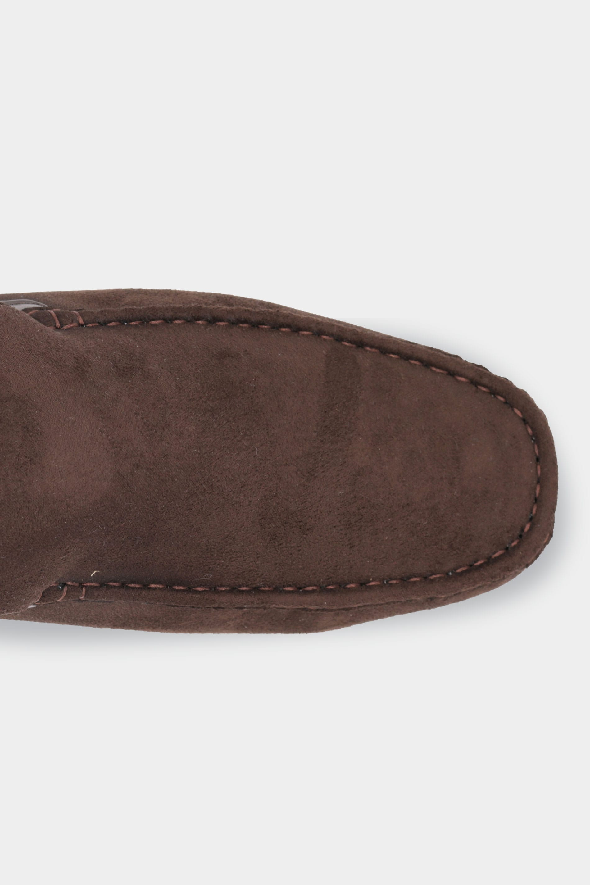 D555 Brown Faux Suede Slip On Moccasin