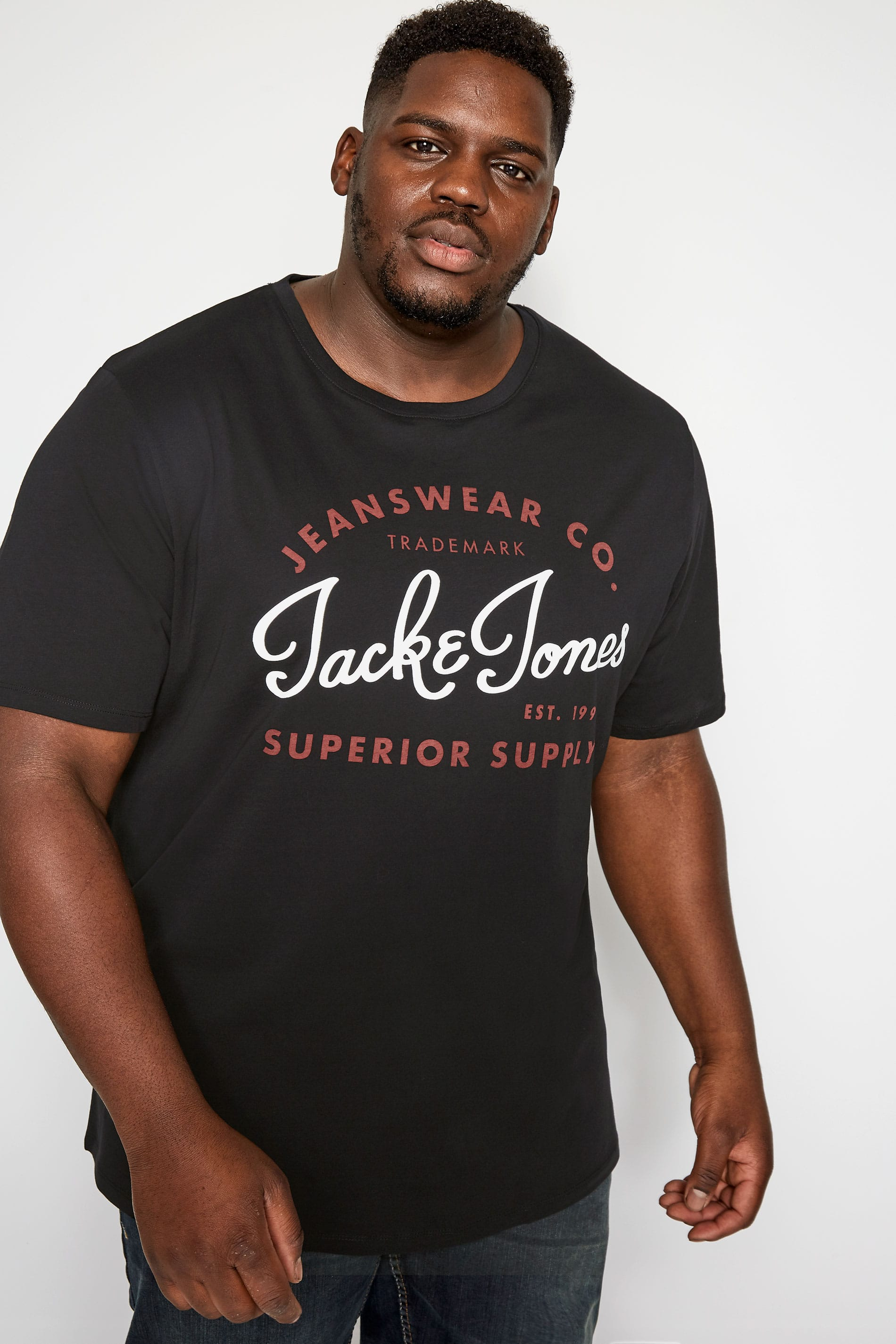 JACK & JONES Black Logo T-Shirt