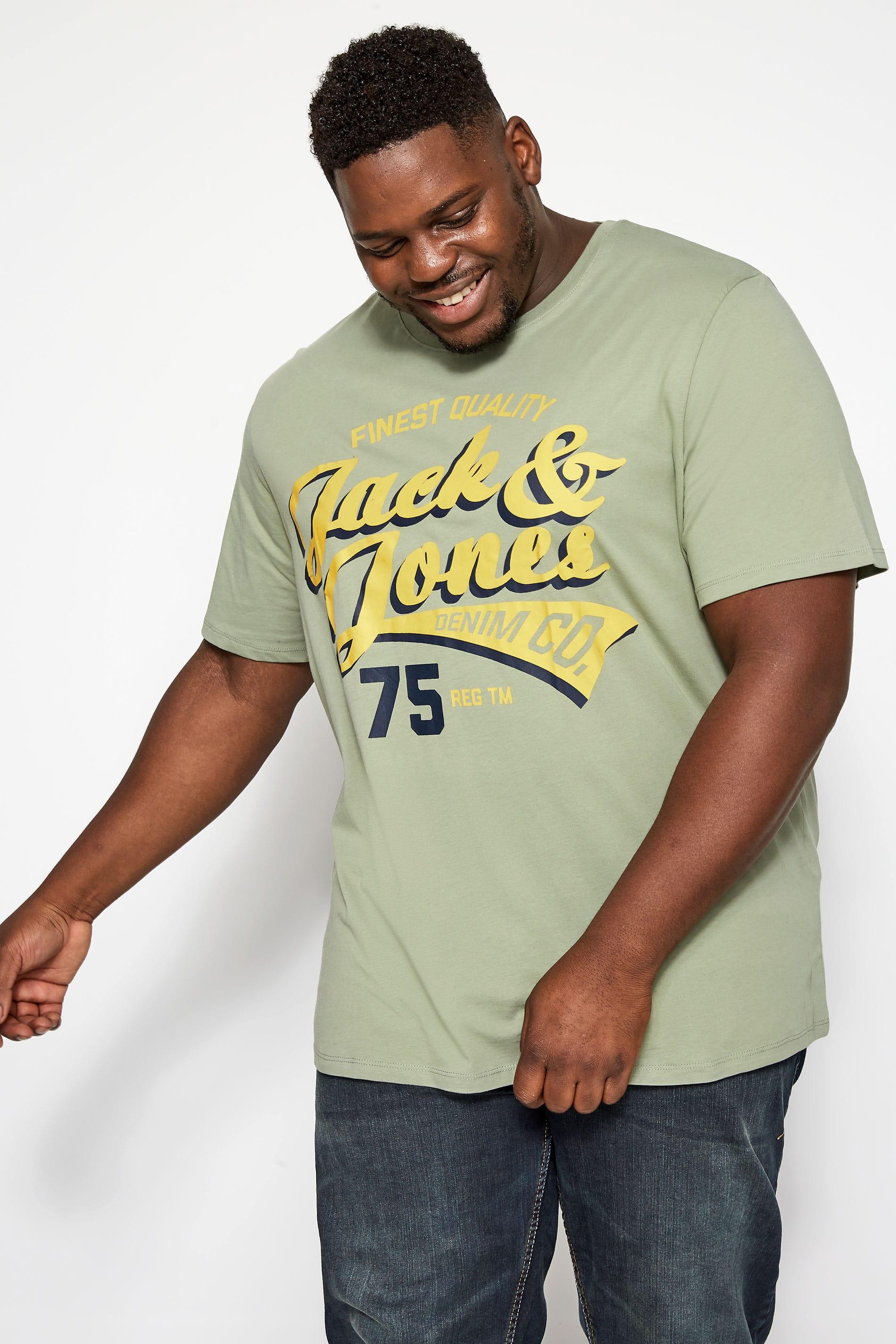 JACK & JONES Light Green Logo T-Shirt