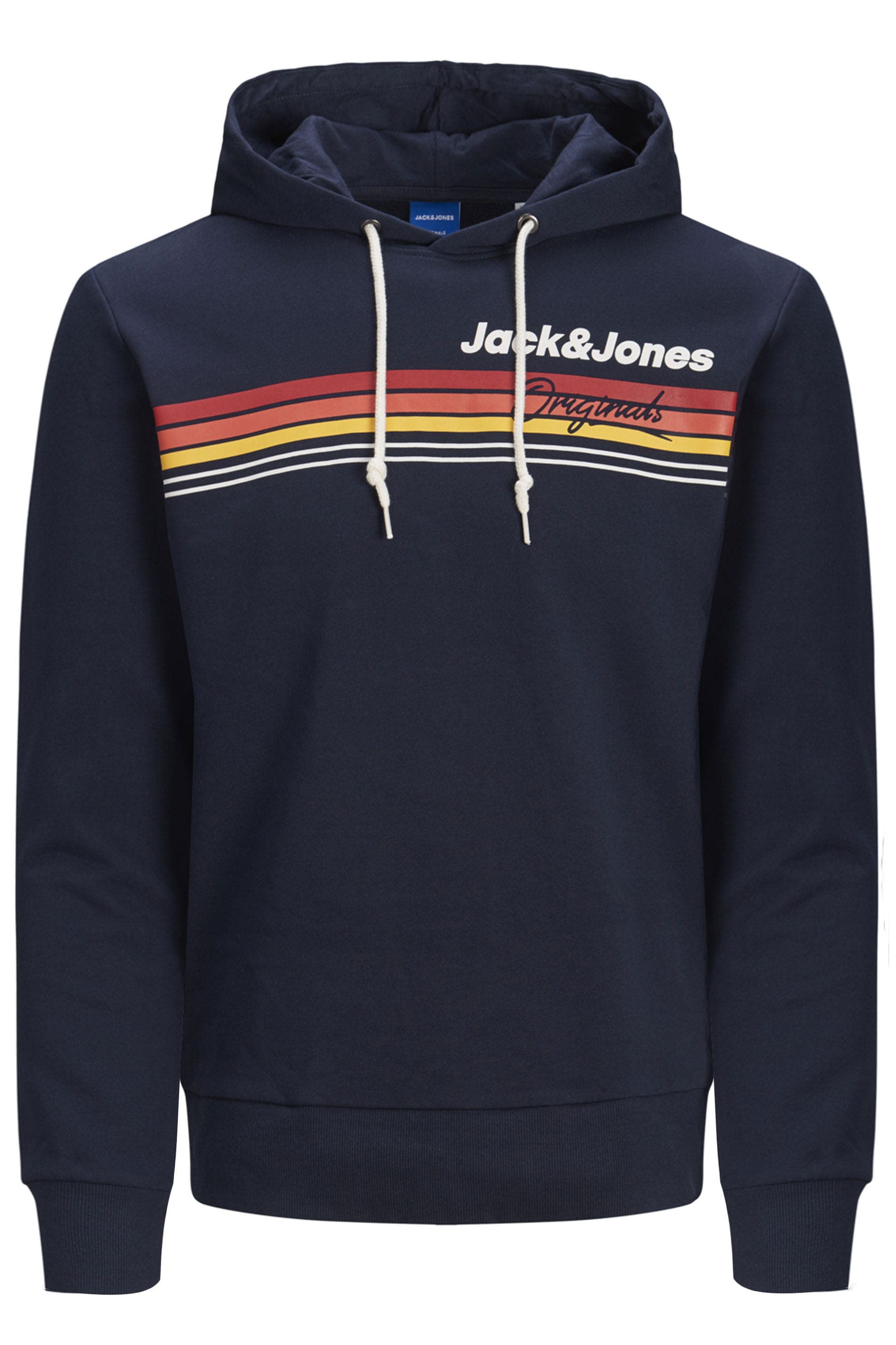 JACK & JONES Navy Originals Printed Logo Hoodie