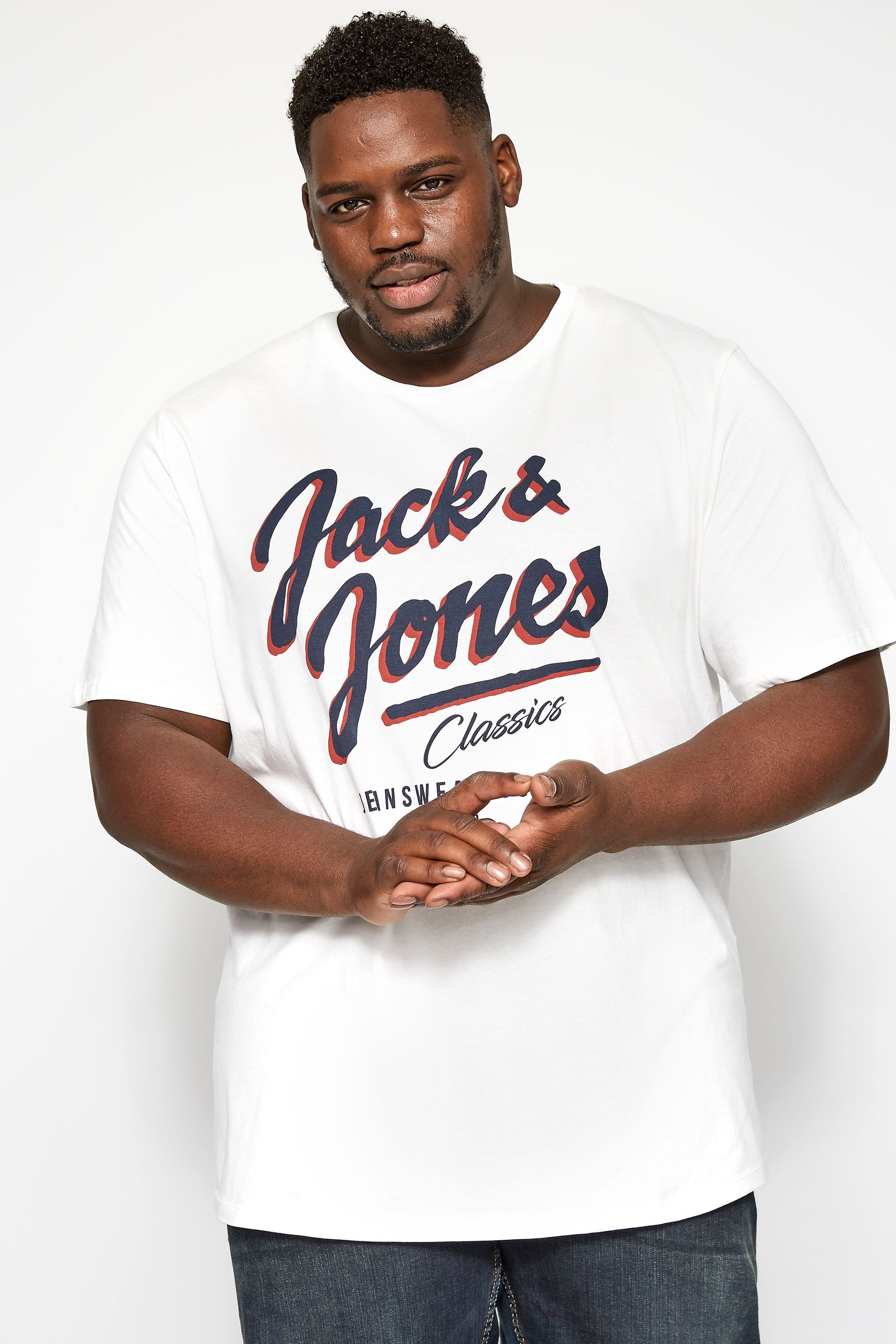 JACK & JONES White Logo T-Shirt