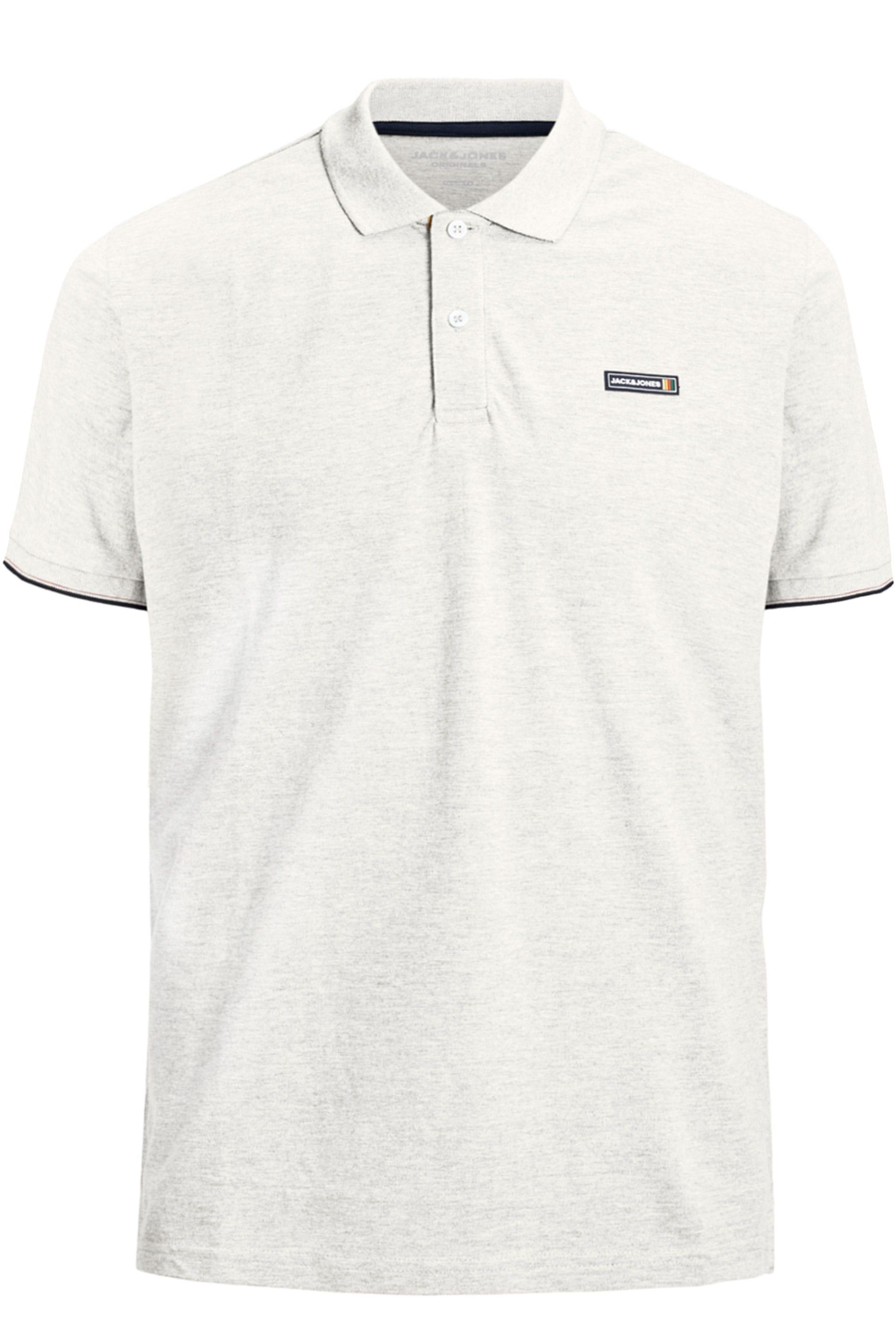JACK & JONES White Logo Badge Polo Shirt