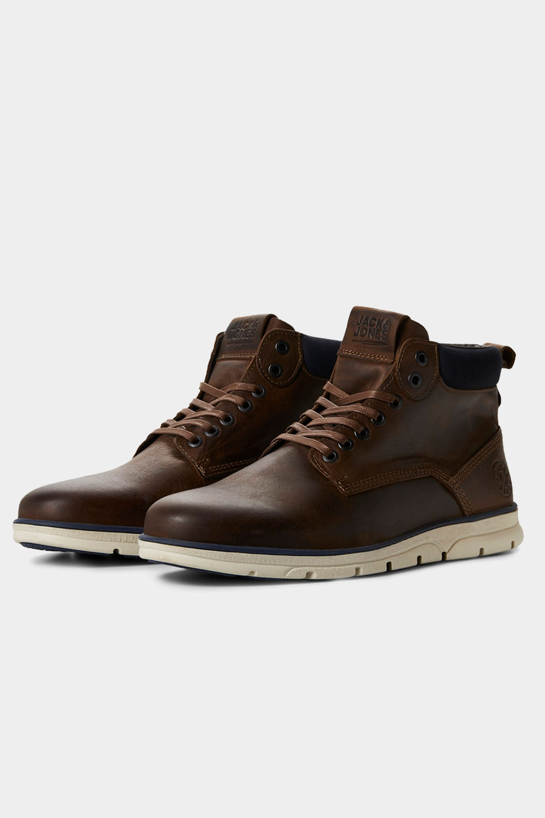 JACK & JONES Brown Leather Boots