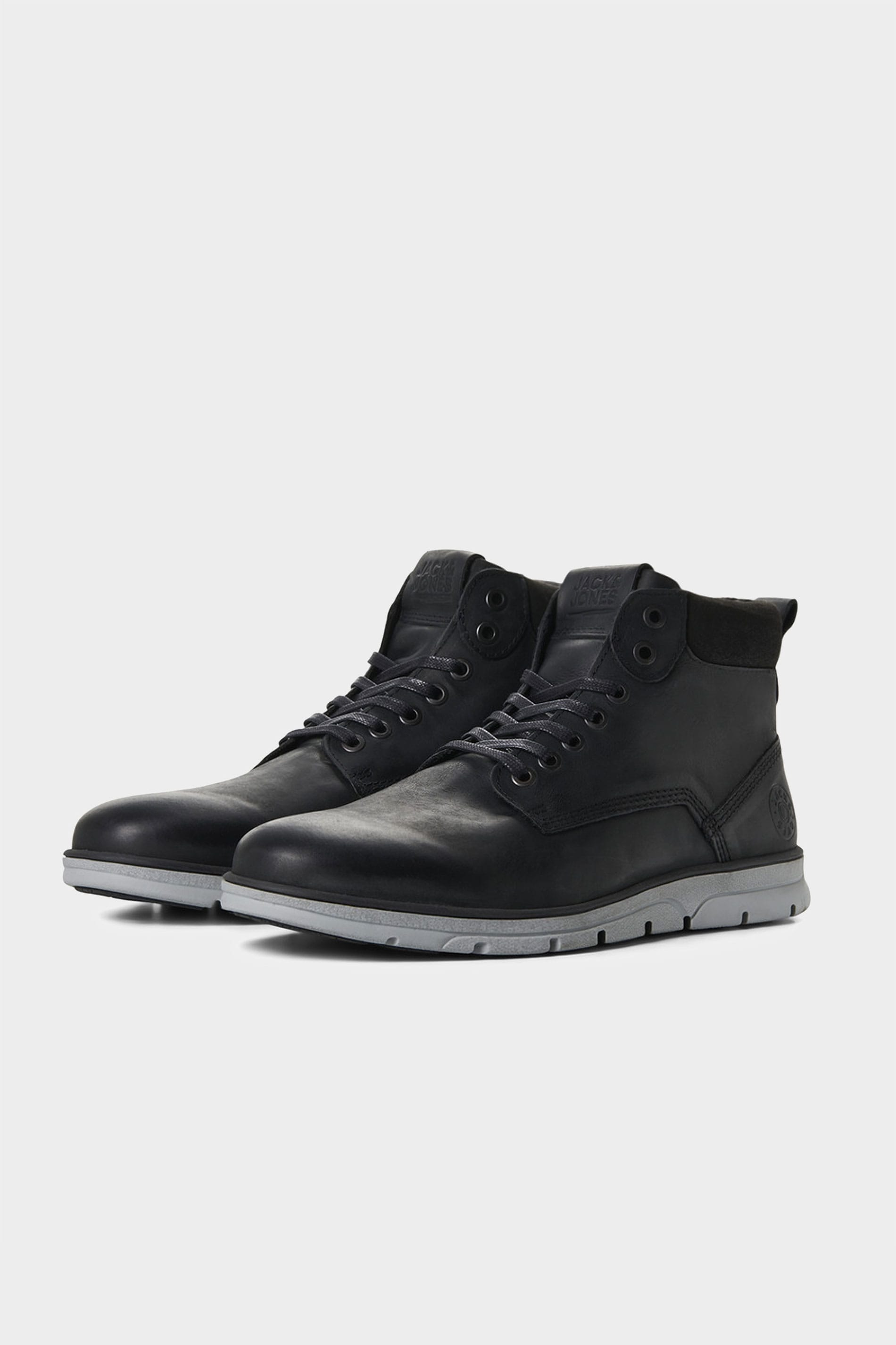 JACK & JONES Black Leather Boots