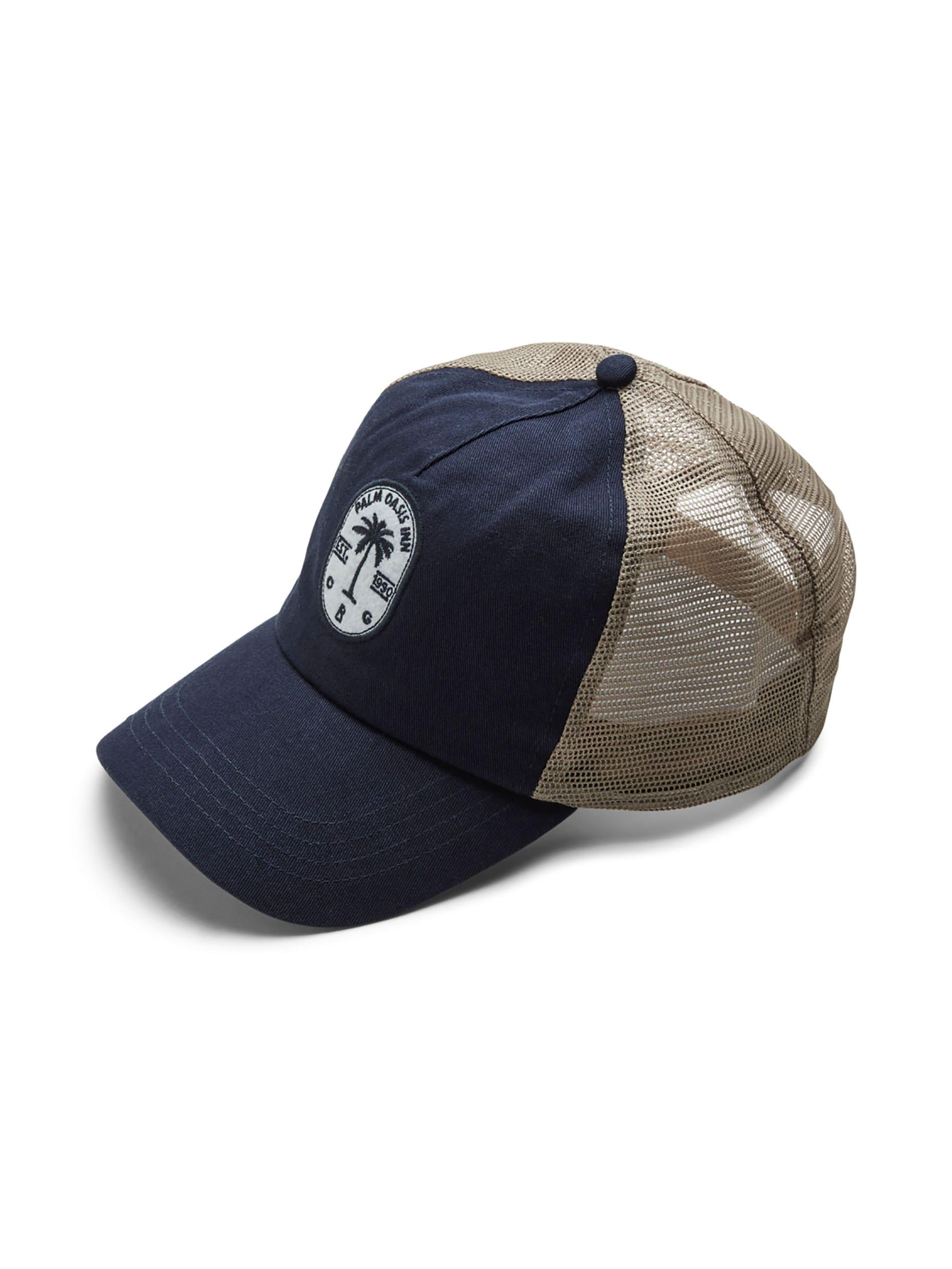 JACK & JONES Navy Embroidered Trucker Cap