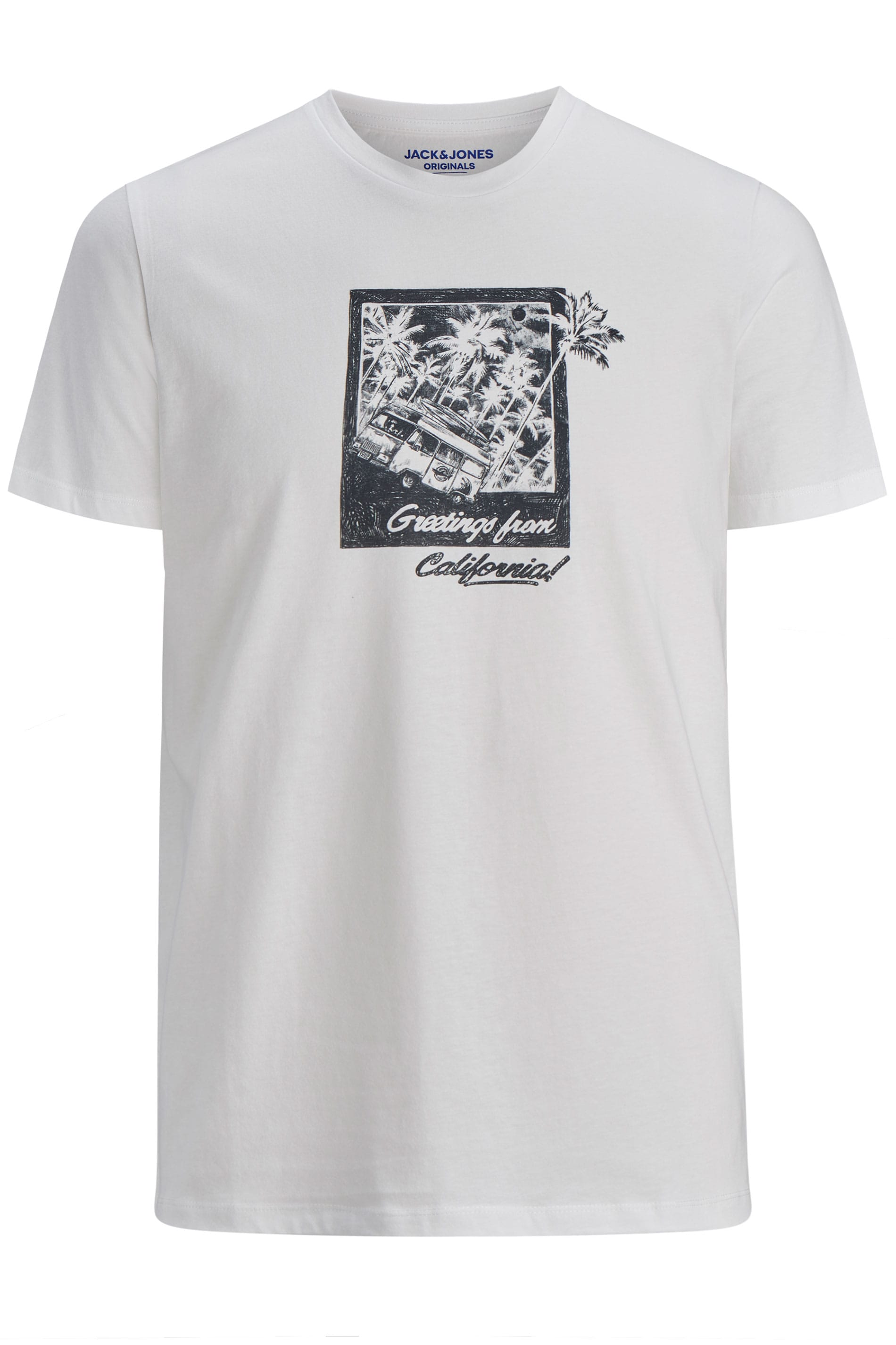 JACK & JONES White Postcard Graphic T-Shirt